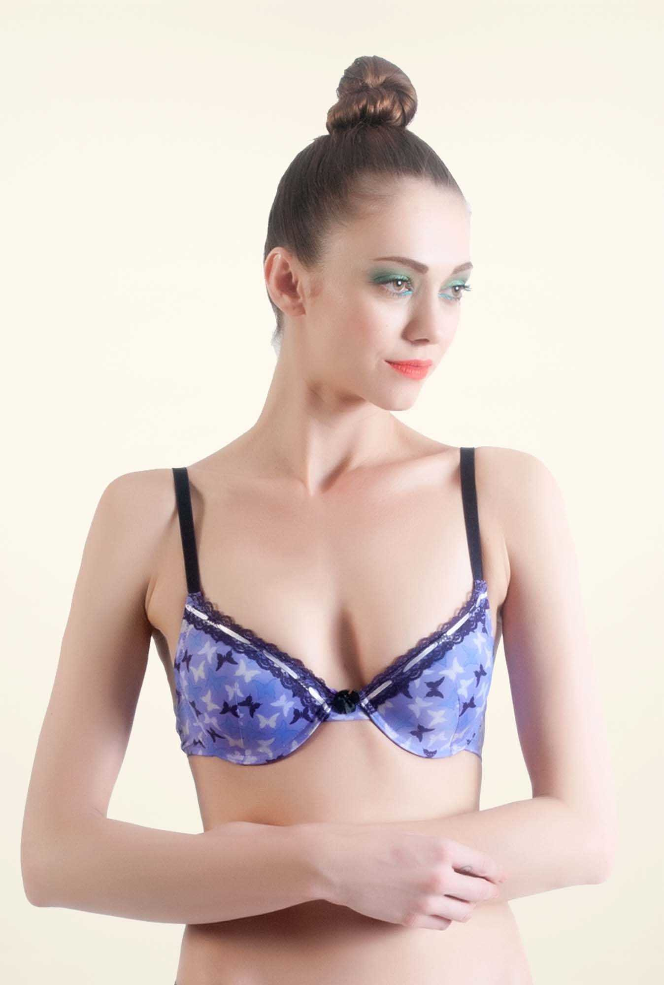 Bwitch Blue Front Open Bra