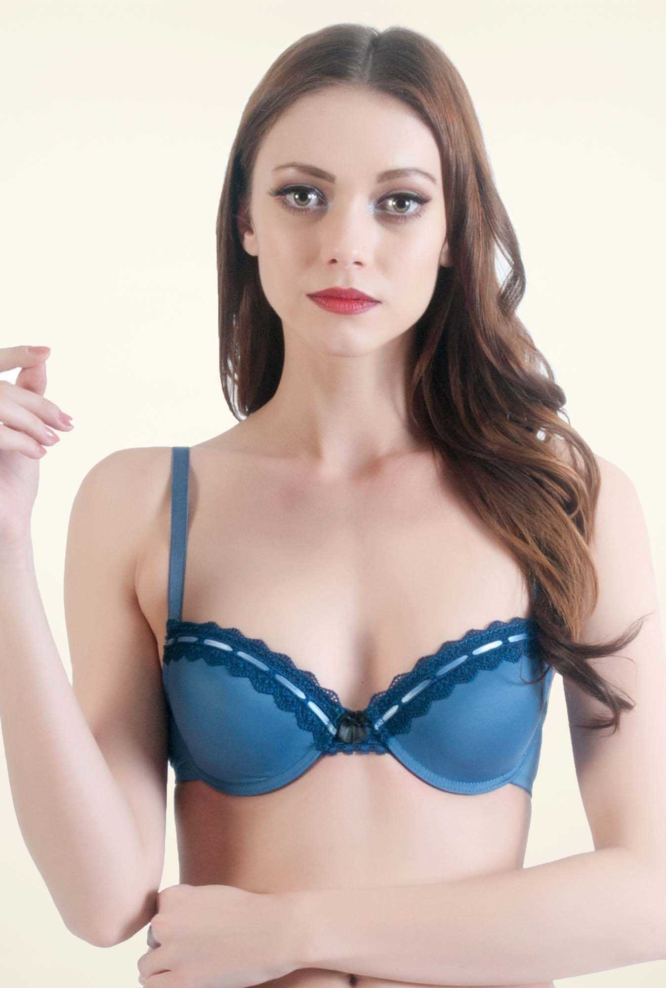 Bwitch Teal Front Open Bra