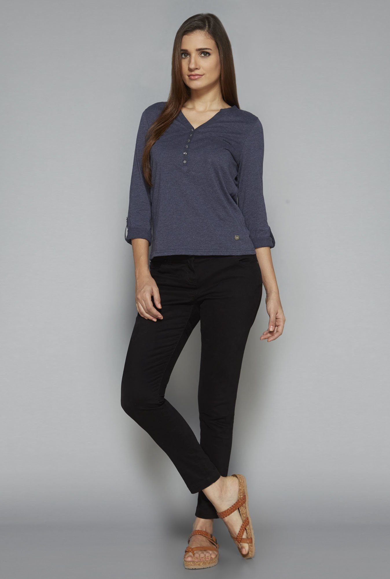 LOV by Westside Indigo Talia Top