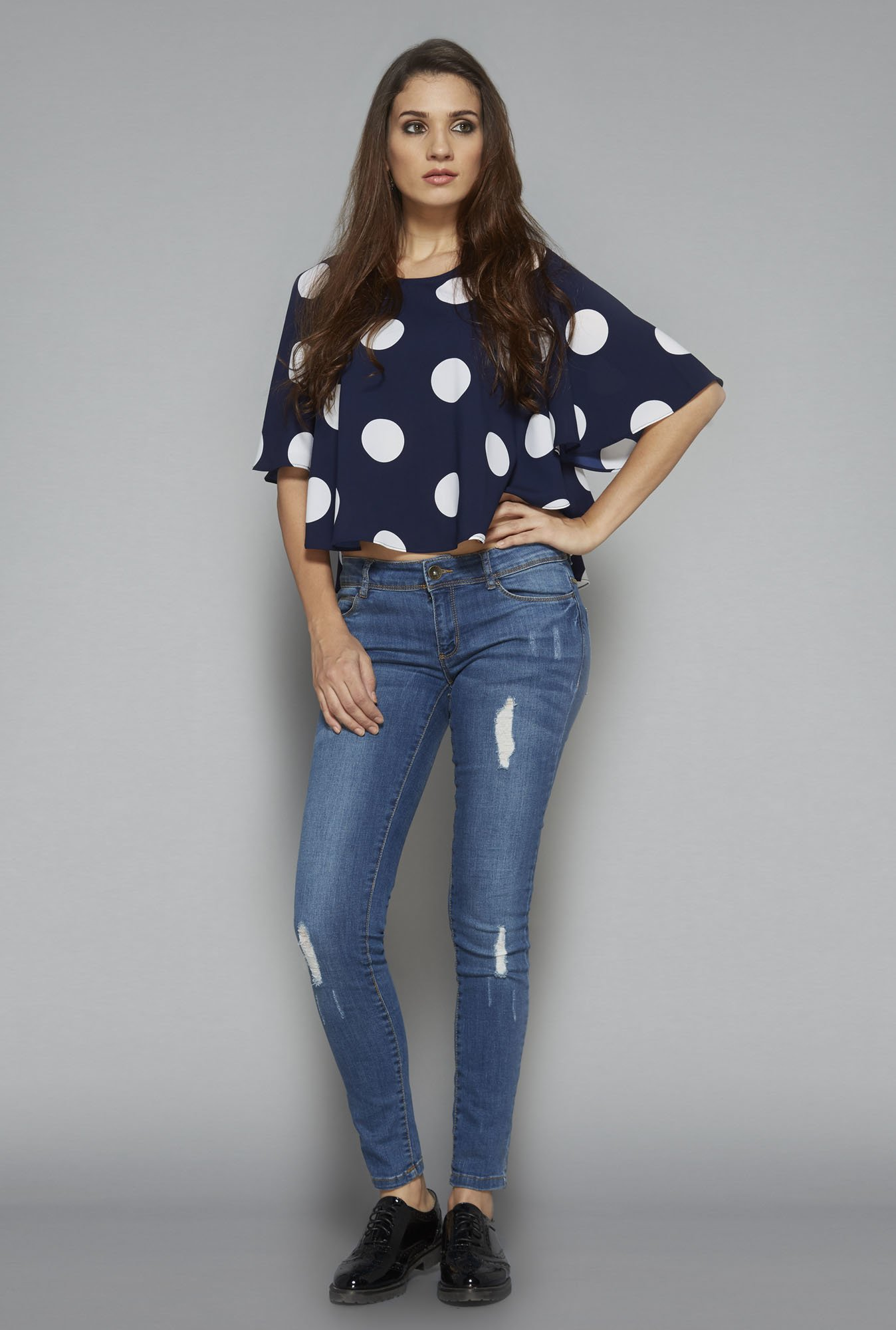 Nuon by Westside Navy Polka Dot Blouse