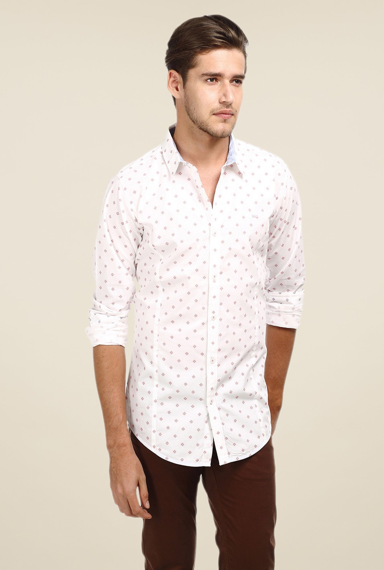 Basics Pink Printed Shirt