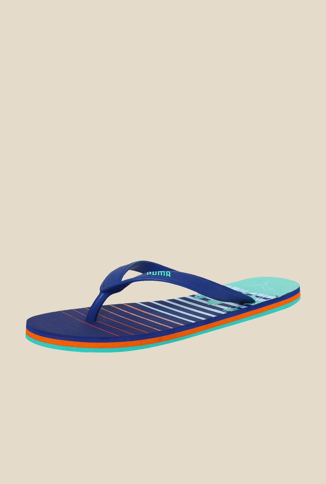 Puma Grace DP Monaco Blue & Mint Leaf Flip Flops