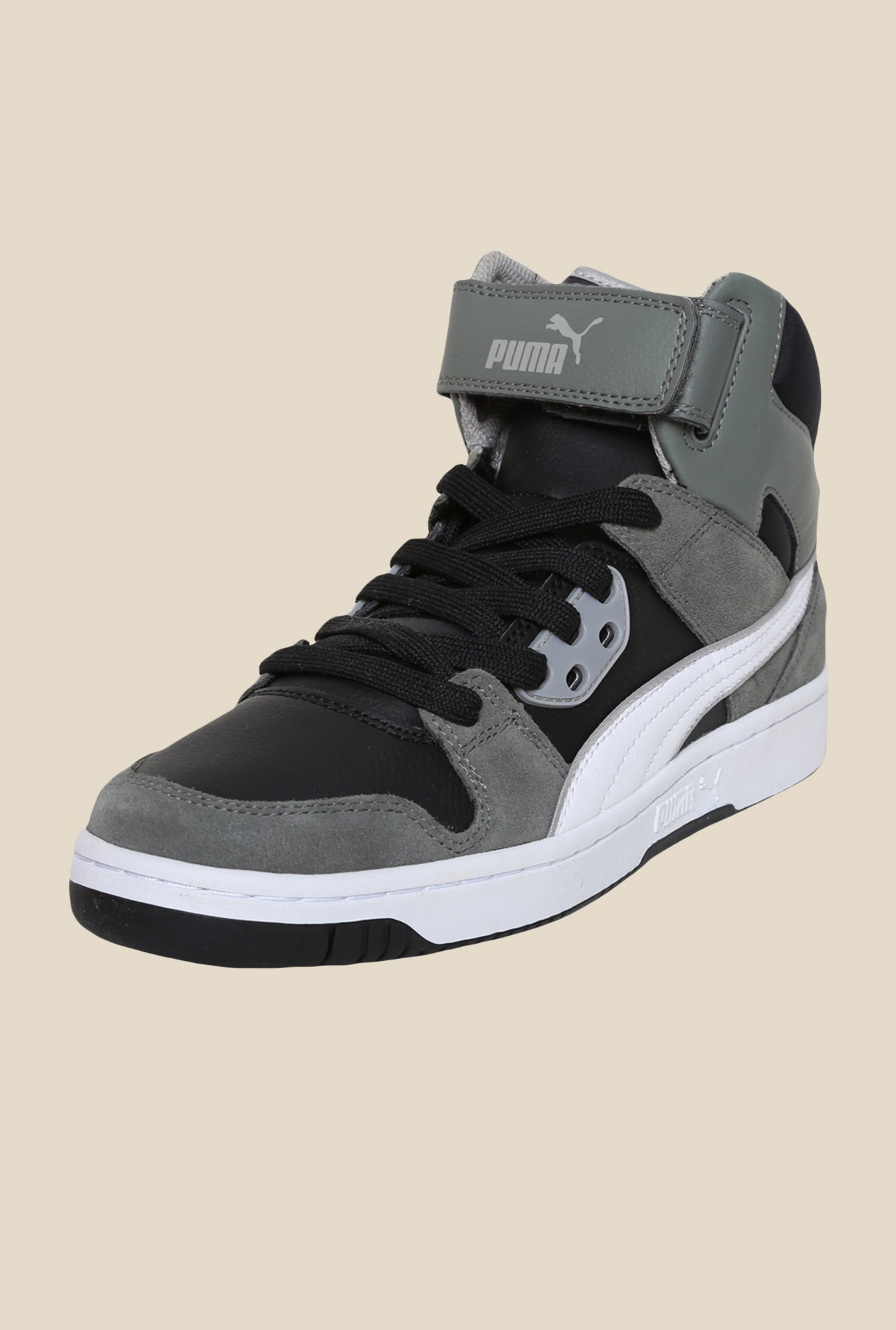 Puma Rebound Street SD Black & White Sneakers