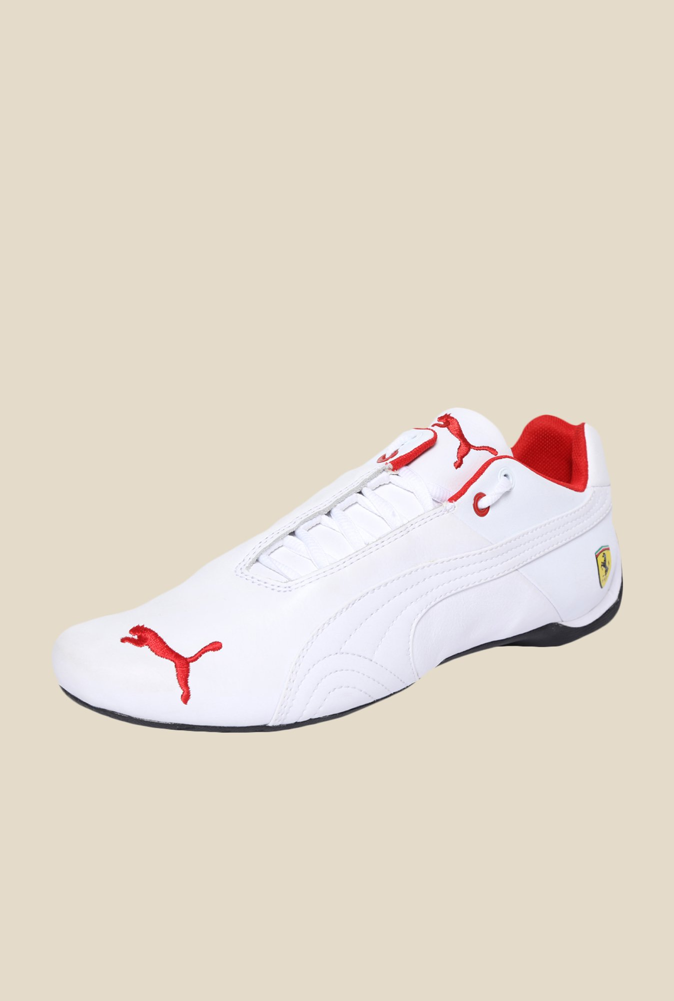Puma Future CAT SF White & Red Sneakers