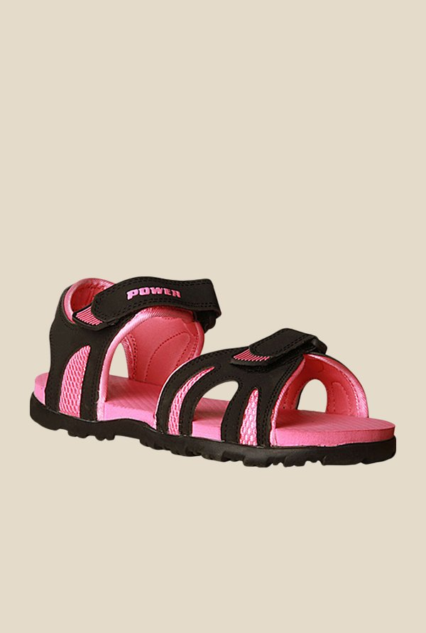 Power Rafter Col Black & Pink Floater Sandals