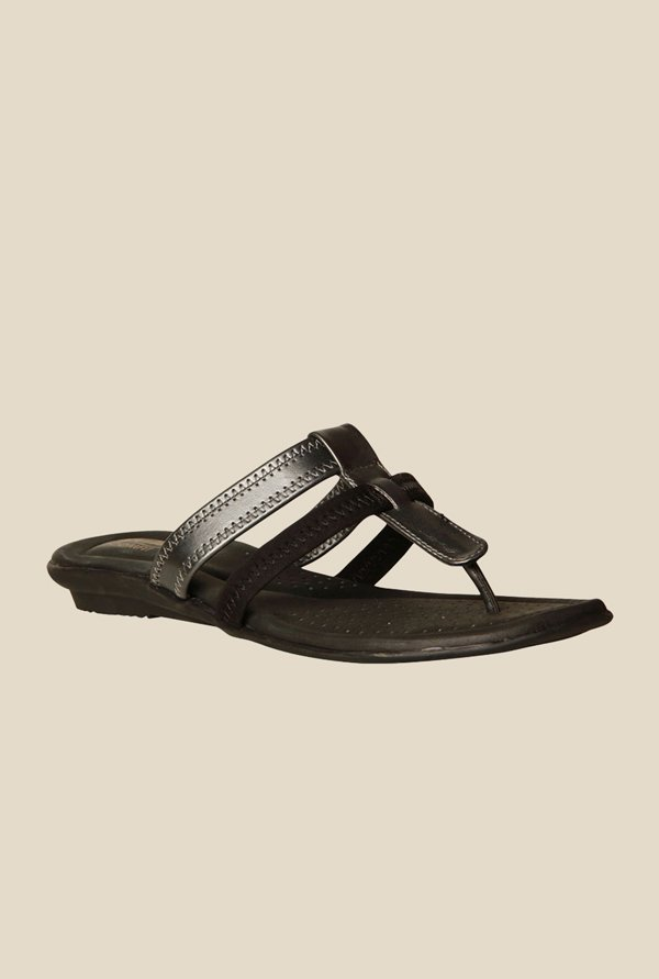 Bata Olivia Black Thong Sandals