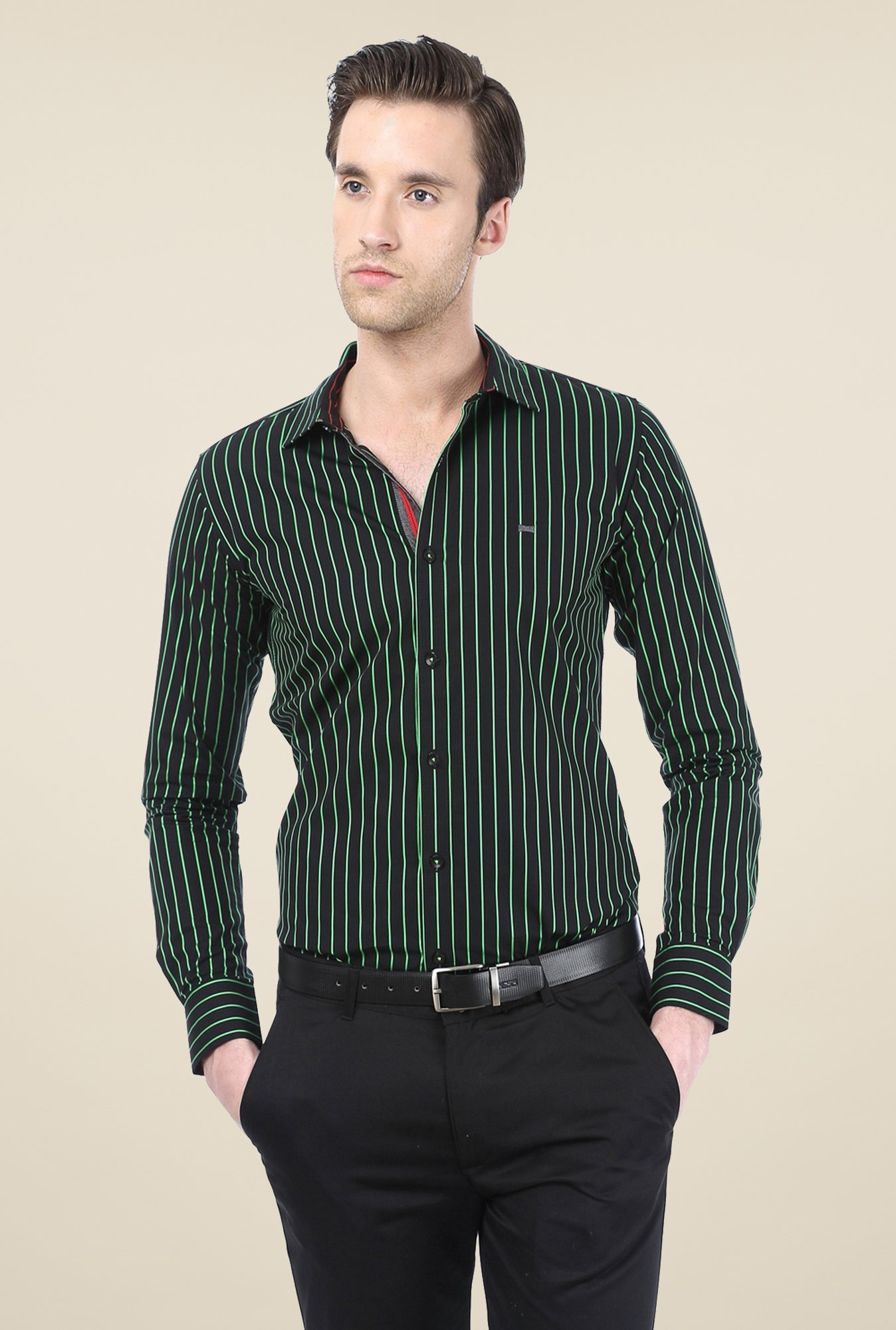 Basics Black Striped Shirt