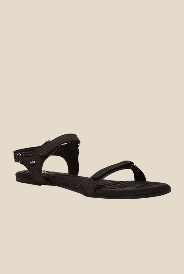 Scholl Ozan Black Floater Sandals