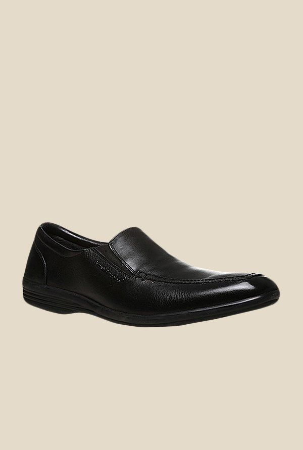 Hush Puppies Hooter Black Slip-Ons