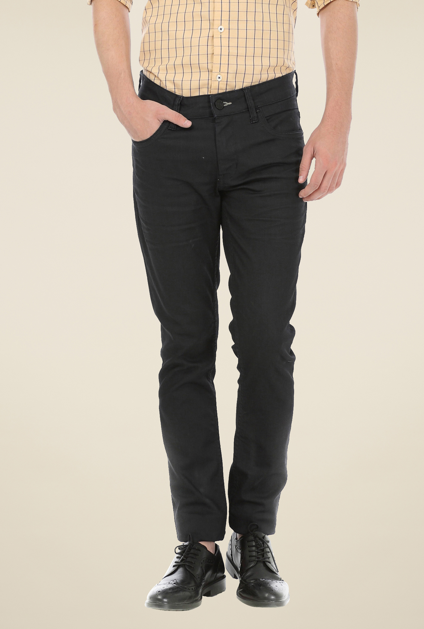 Basics Black Lightly Washed Jeans