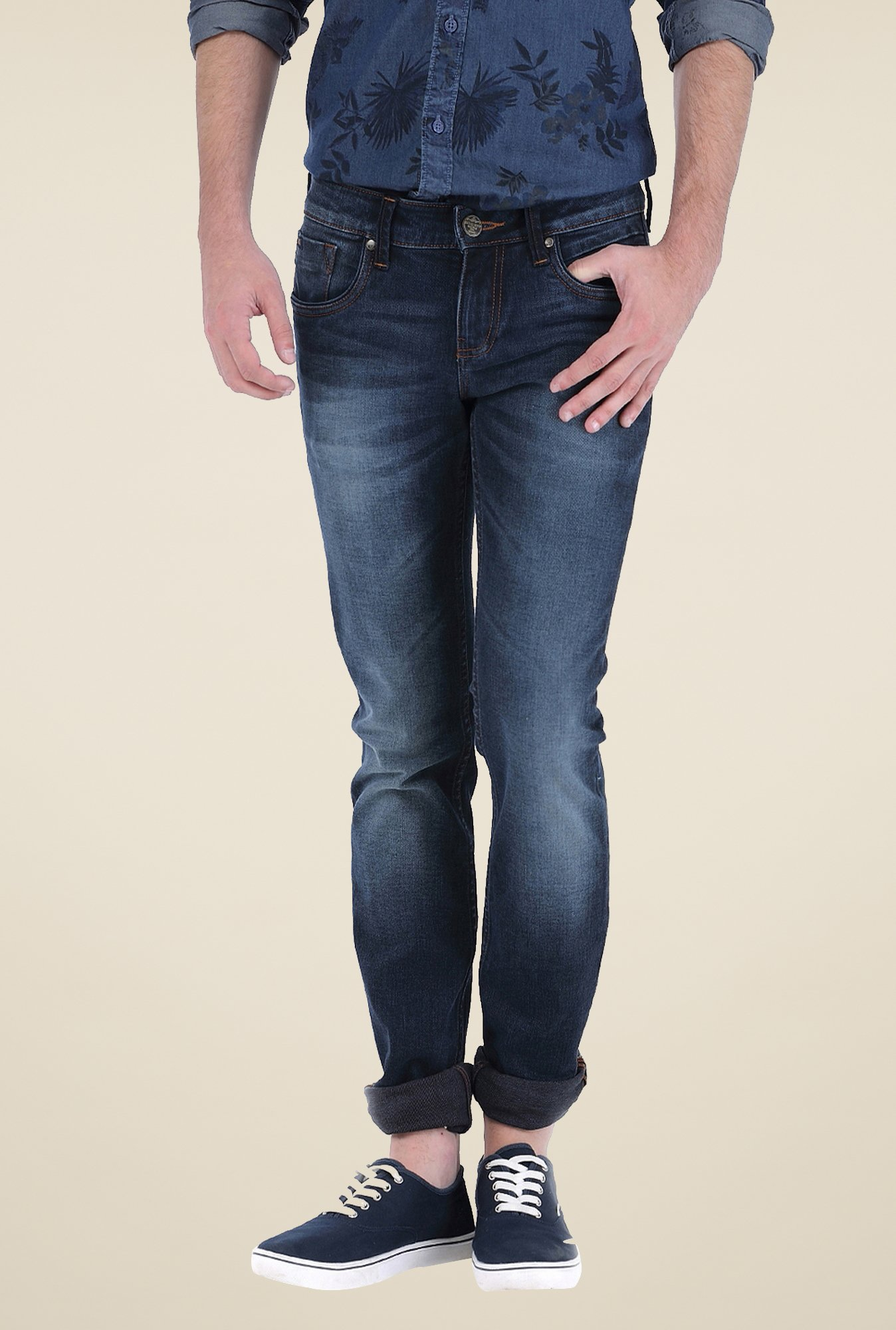 Basics Navy Skinny Fit Jeans