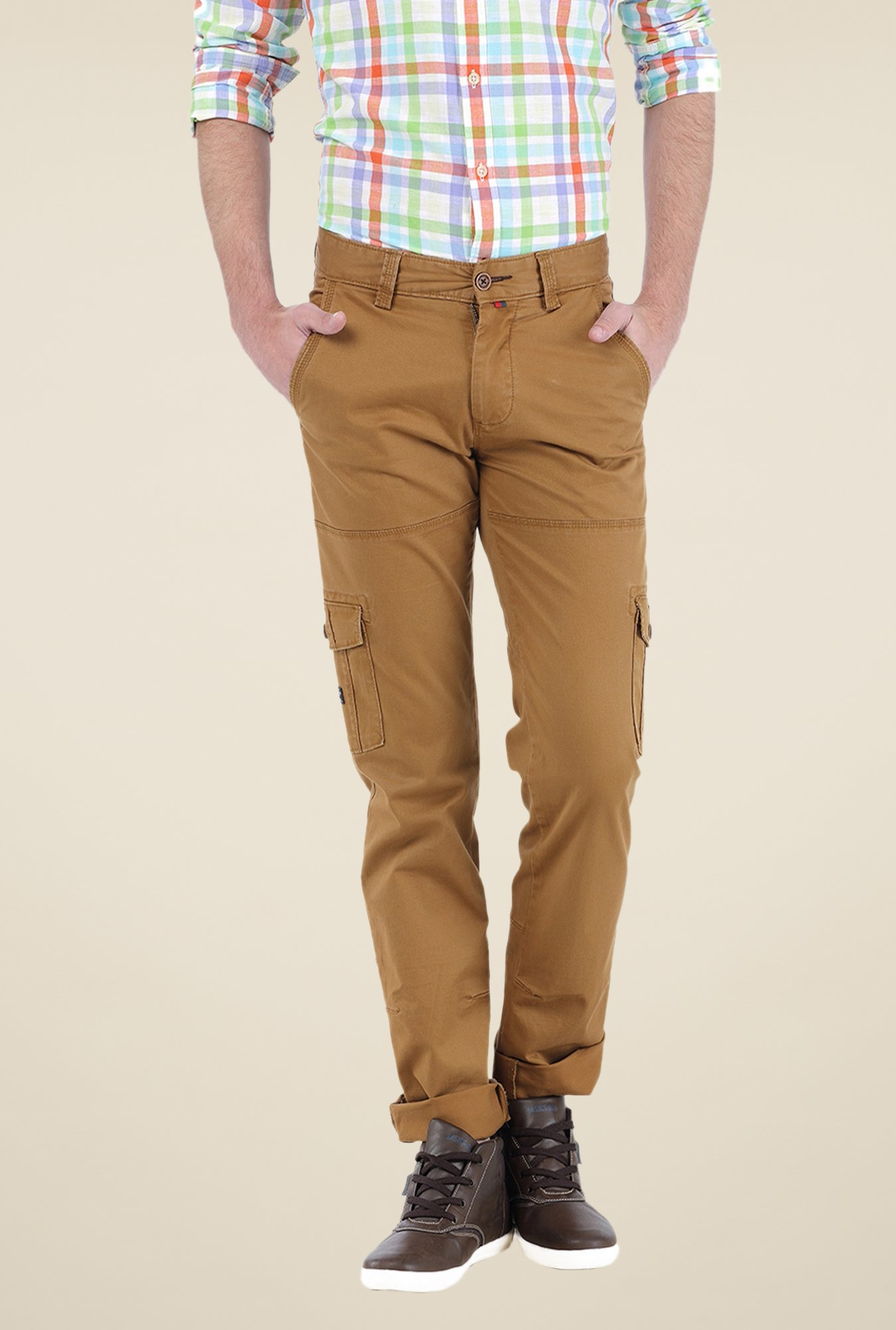 Basics Brown Solid Cargos