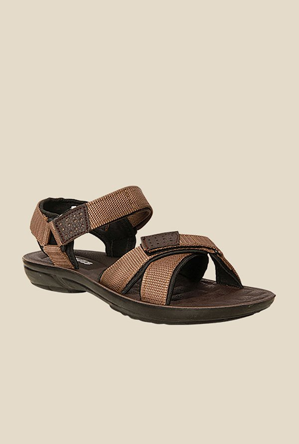 Bata Brown Floater Sandals