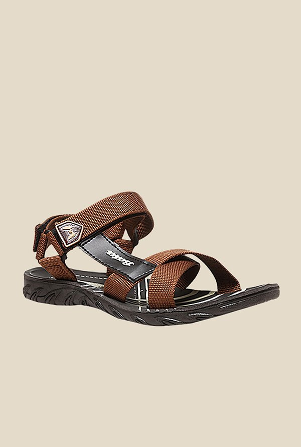 Bata James-Eco Brown Floater Sandals