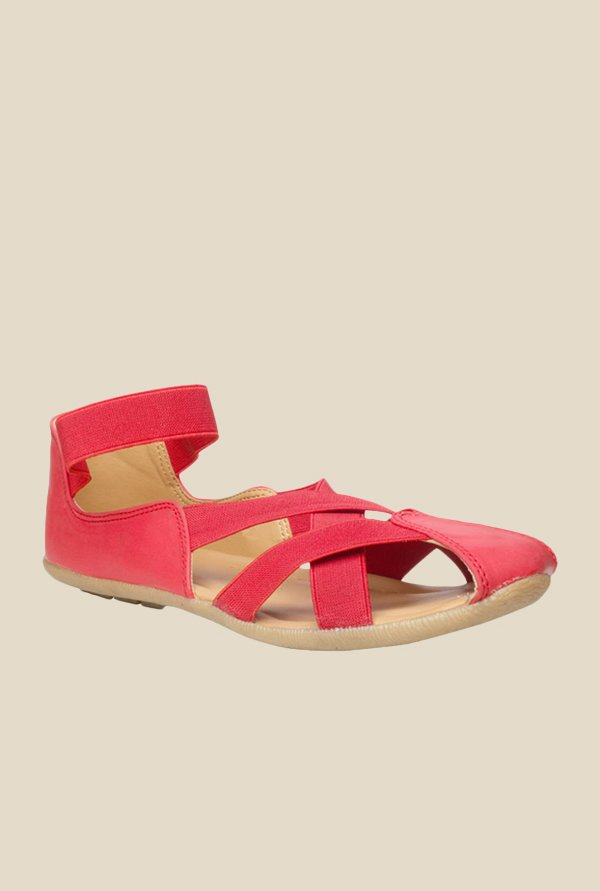 Bata Lauren Red Casual Sandals