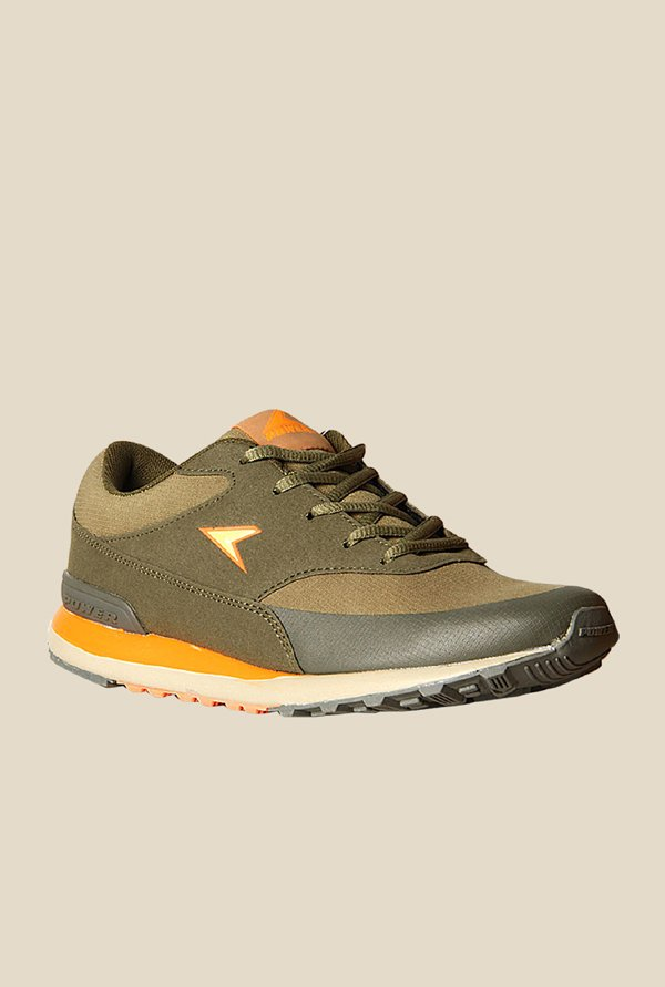 Power Jog Ind314 Olive Green Running Shoes