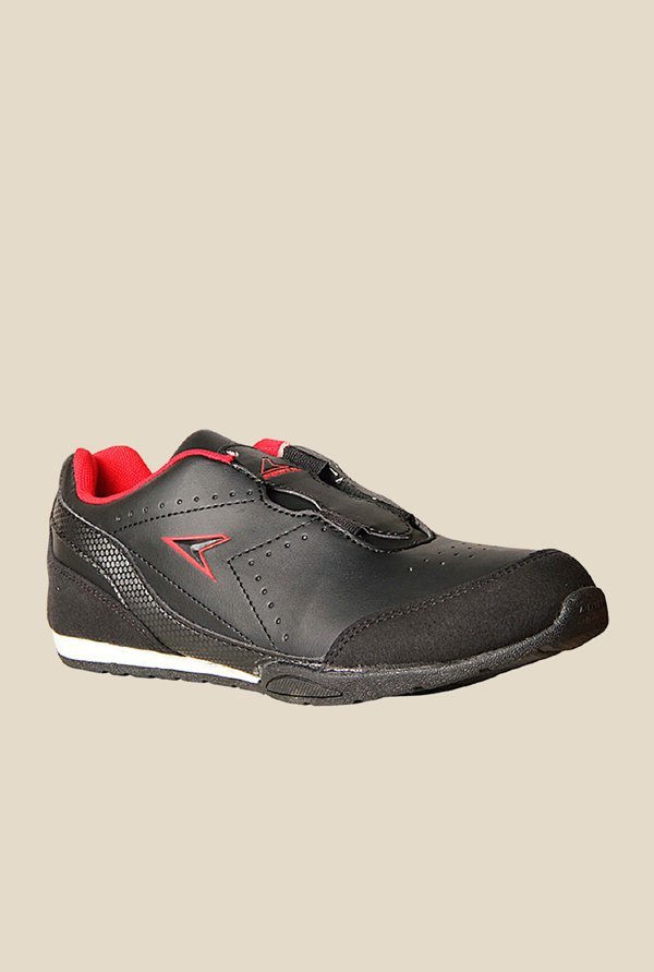 Power Young Black Running Shoes