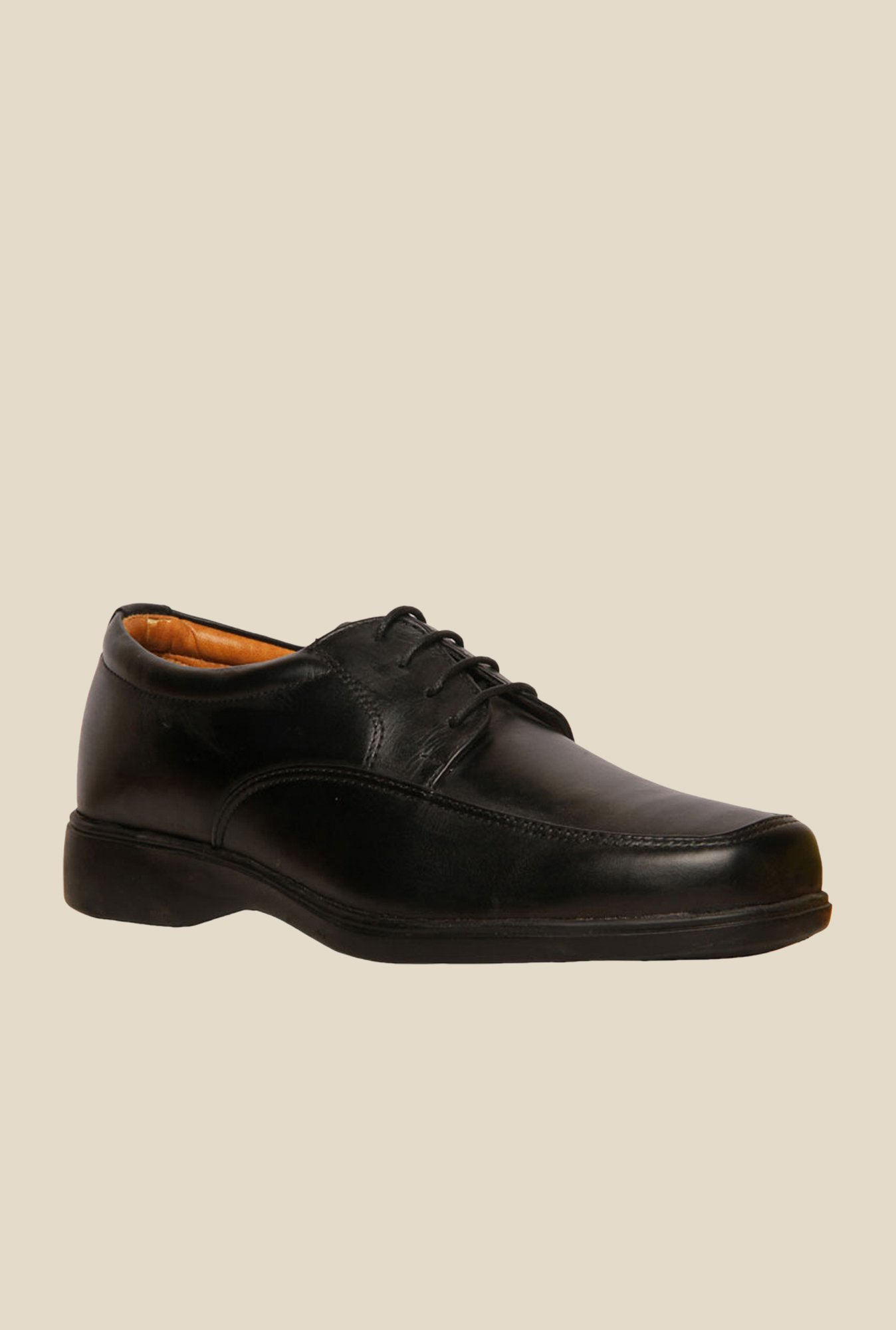 Bata Jackson Black Derby Shoes