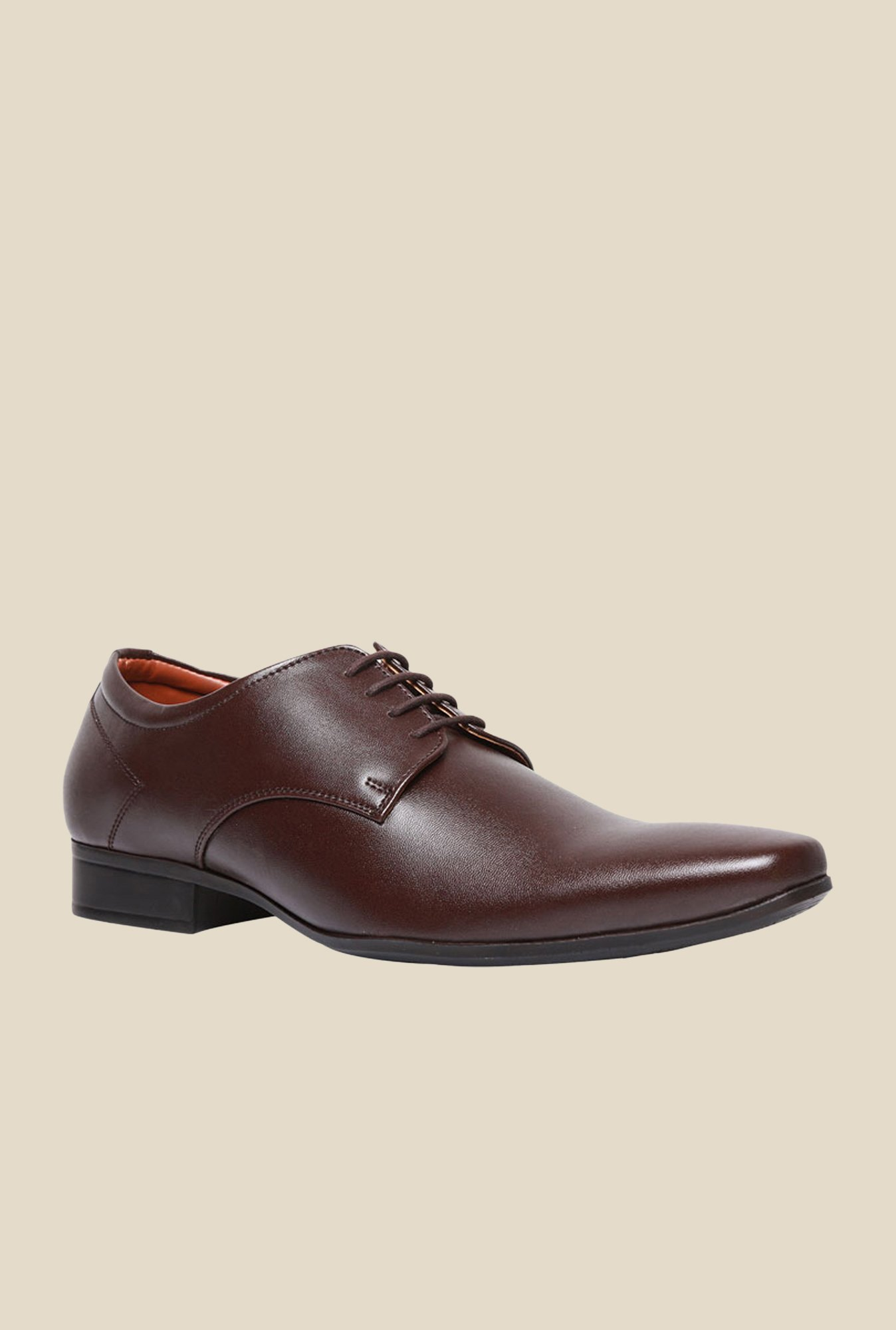 Bata Pine Brown Derby Shoes