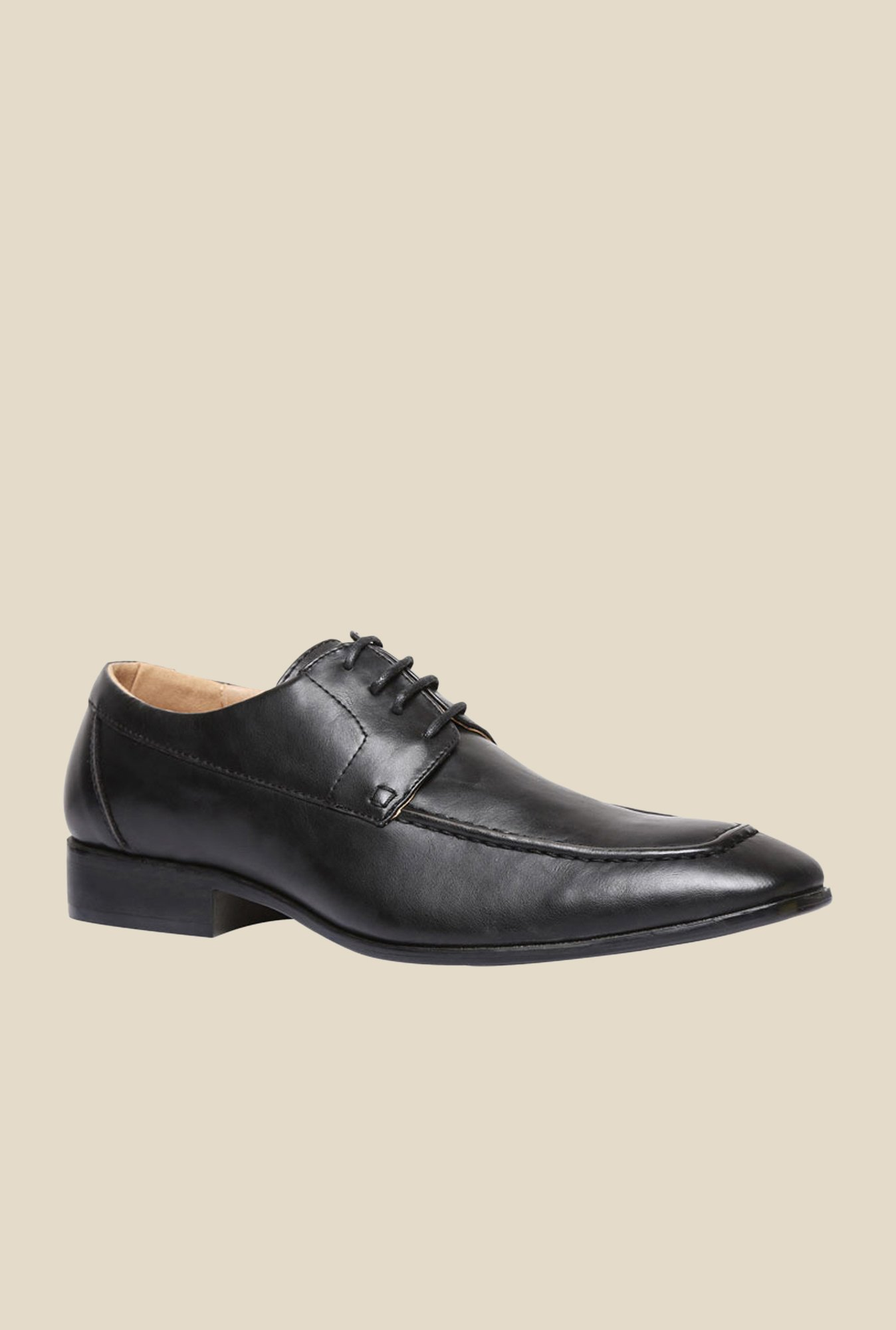 Bata Qchas Black Derby Shoes