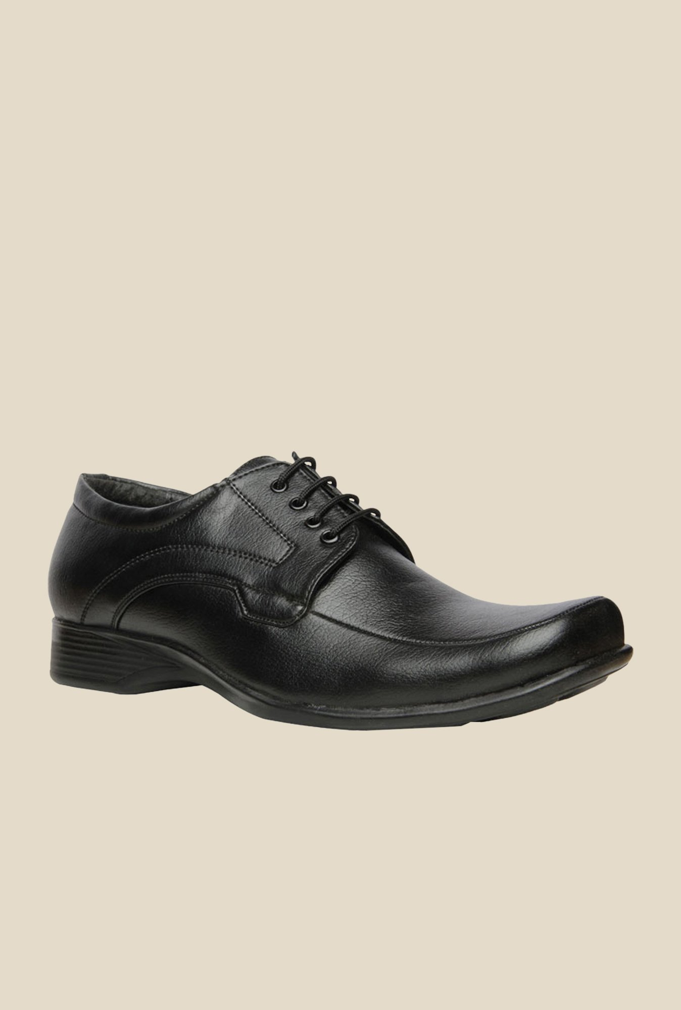 Bata Quin Two Black Derby Shoes