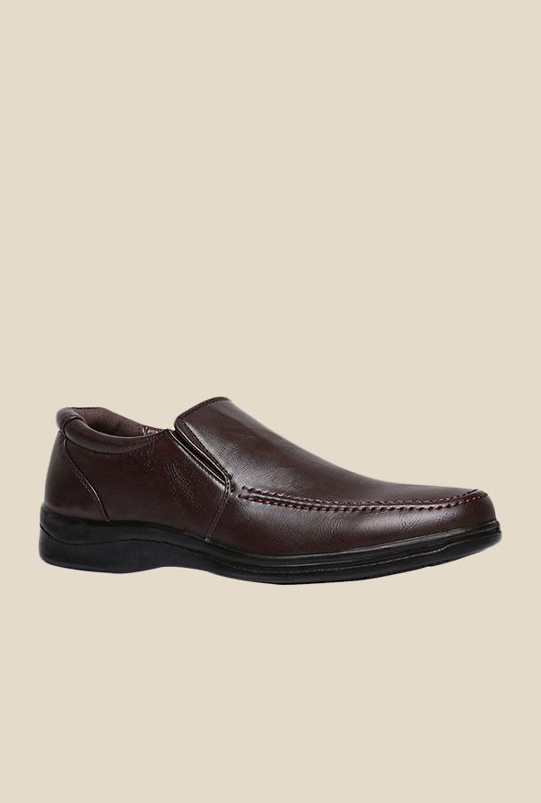 Bata Qihan Brown Slip-Ons