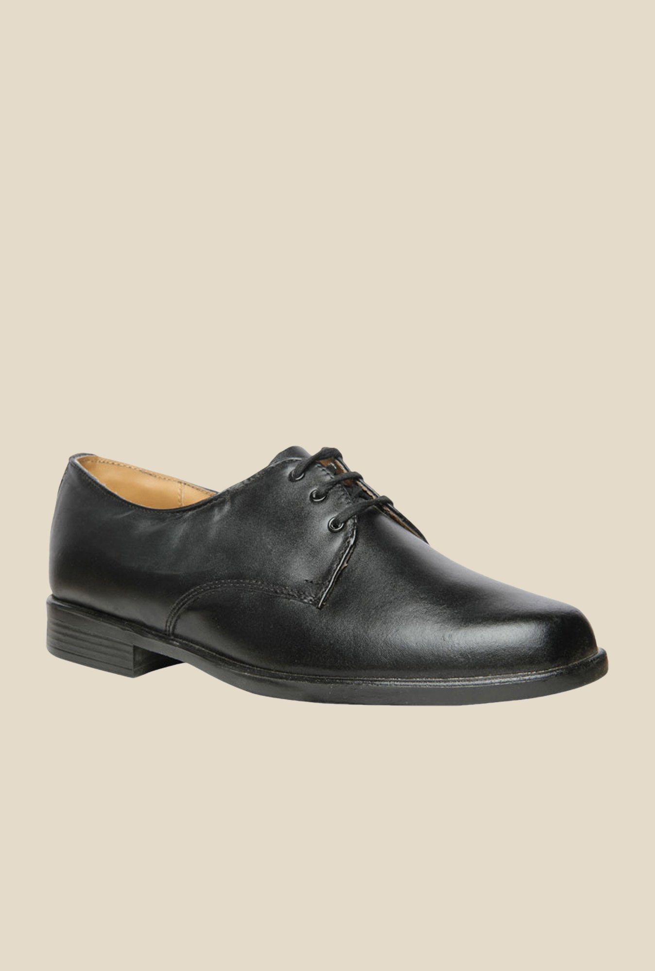 Bata S Stride Black Derby Shoes