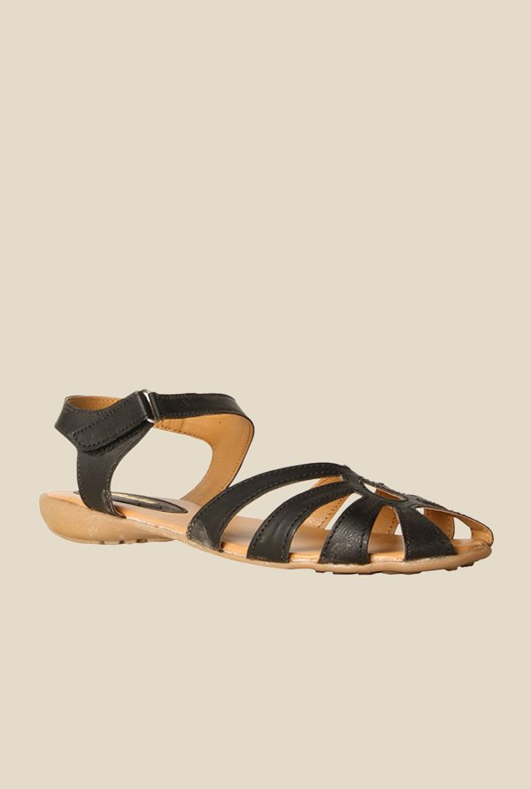 Bata Ally Black Ankle Strap Sandals
