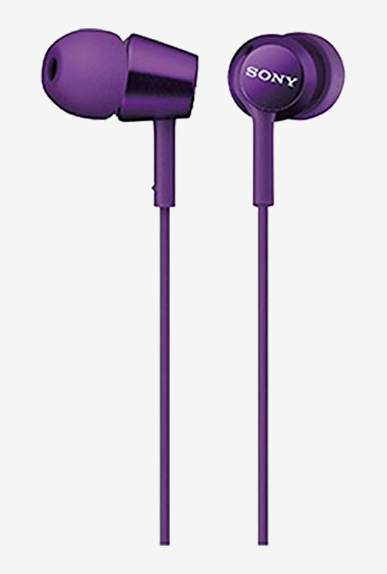 Sony MDR-EX150/V Canal Type Earphone (Purple)