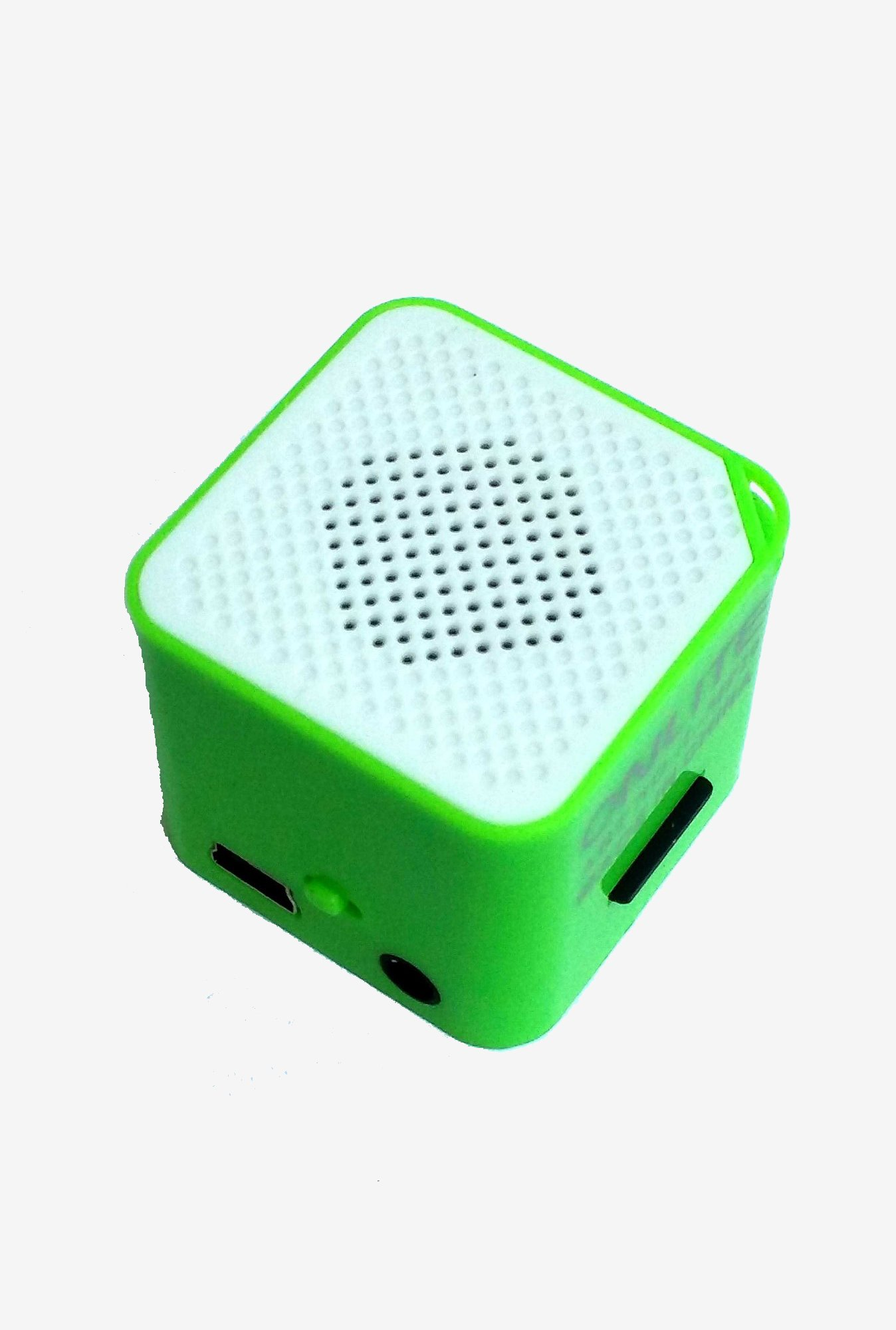 Mini MP3 Player With Inbuilt External Speaker (Green)