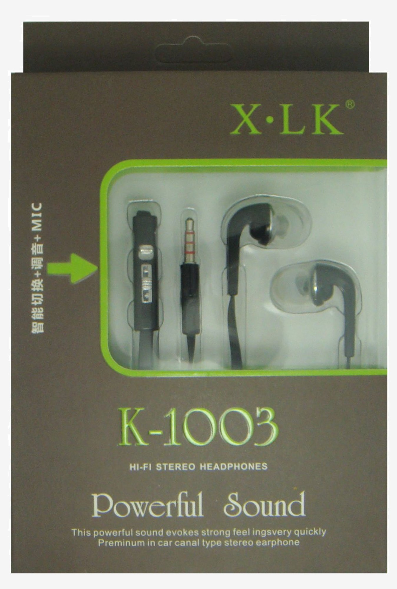 XLK Tangel Free K1003 high-comfort ear headphones (Black)