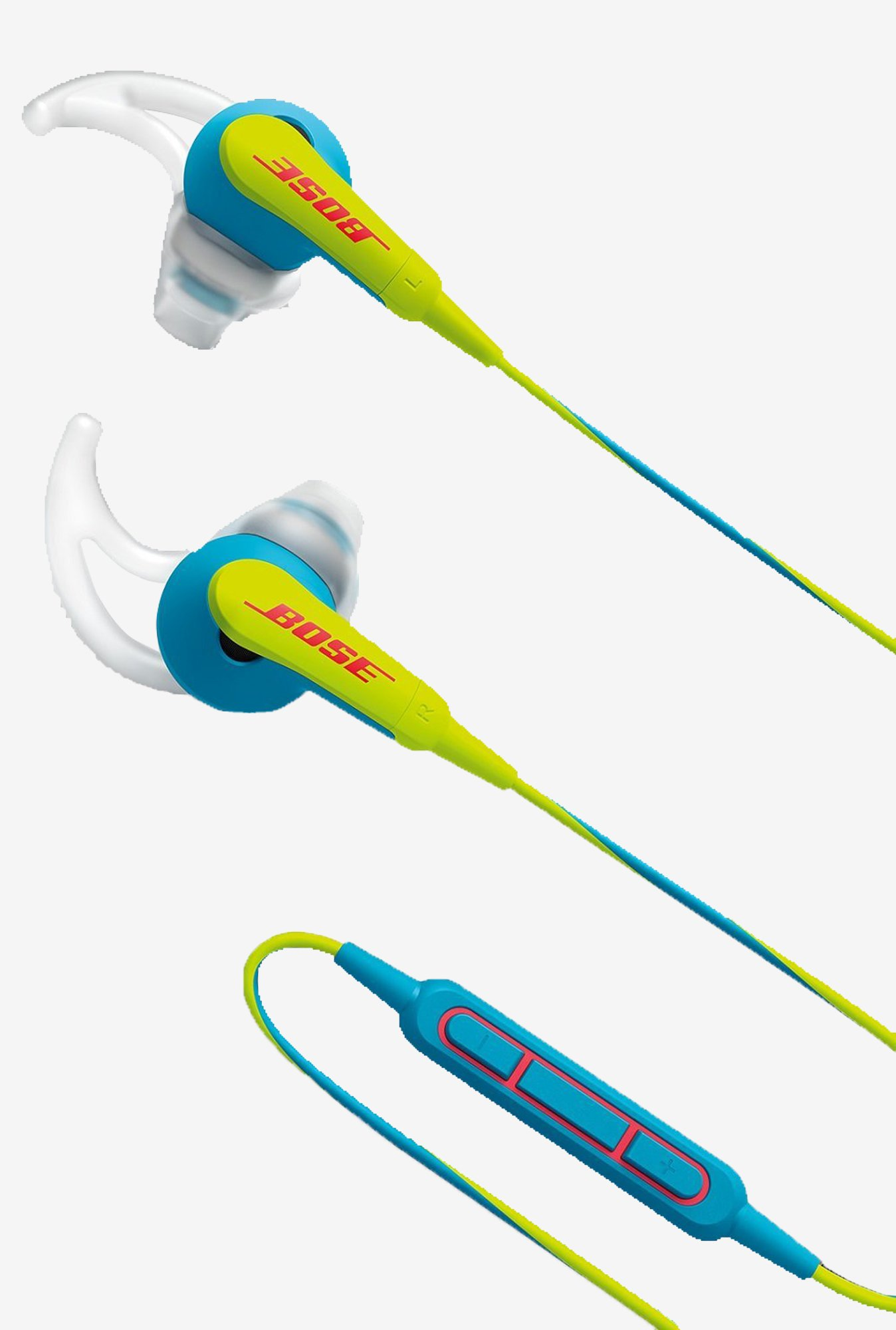 Bose SoundSport In the Ear Headphones with Mic (Neon Blue)