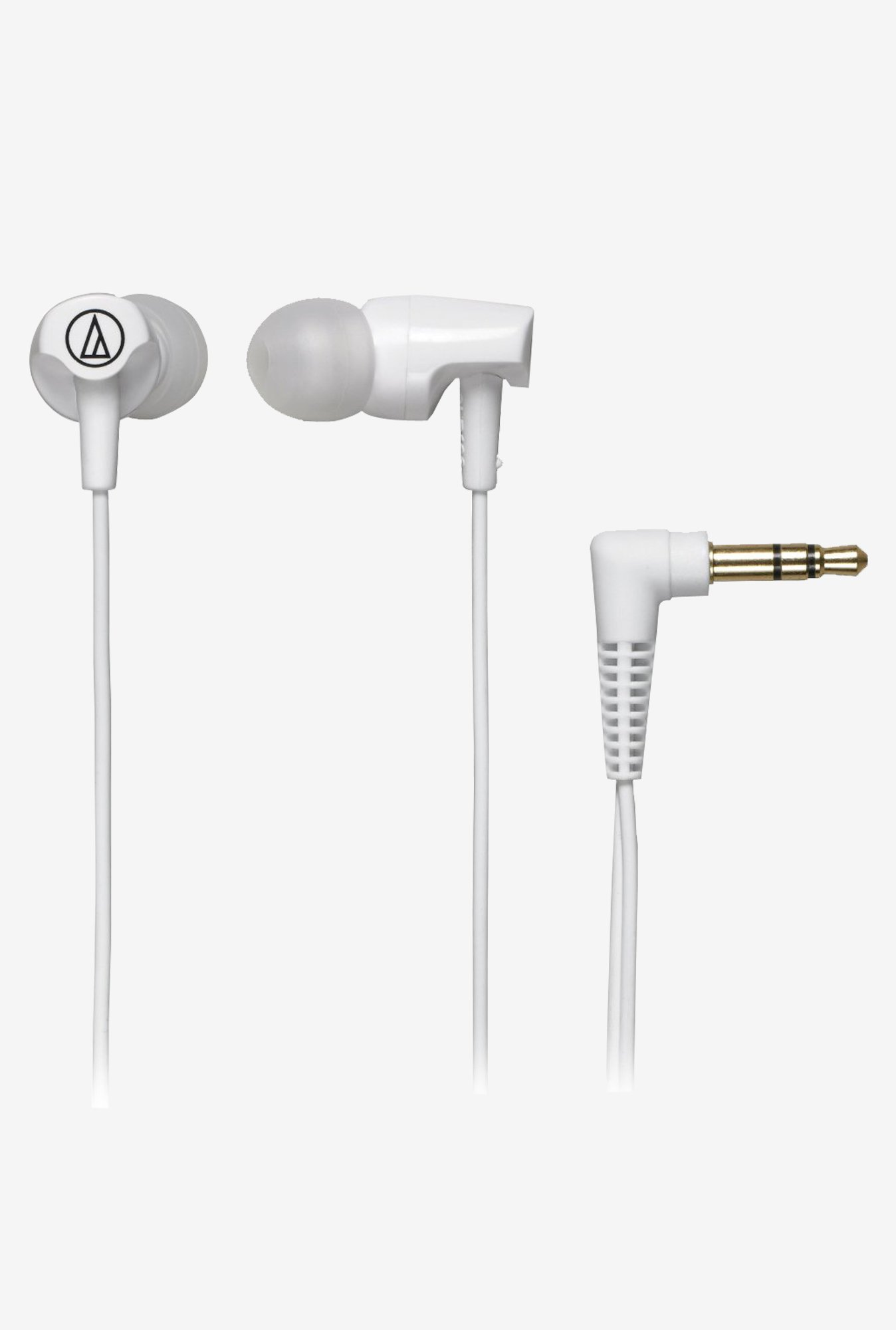 Audio Technica ATH-CLR100 In The Ear Headphones (White)