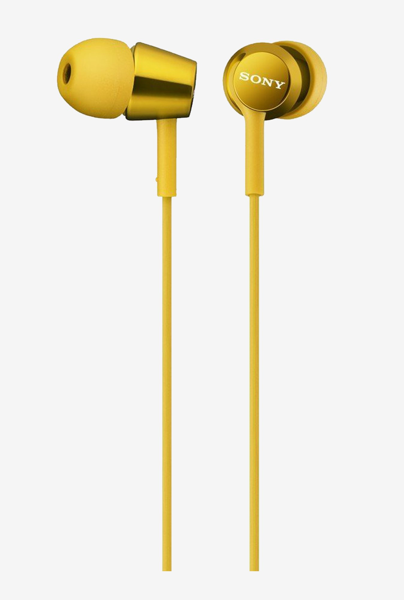 Sony MDR-EX150/Y In The Ear Headphones (Yellow)