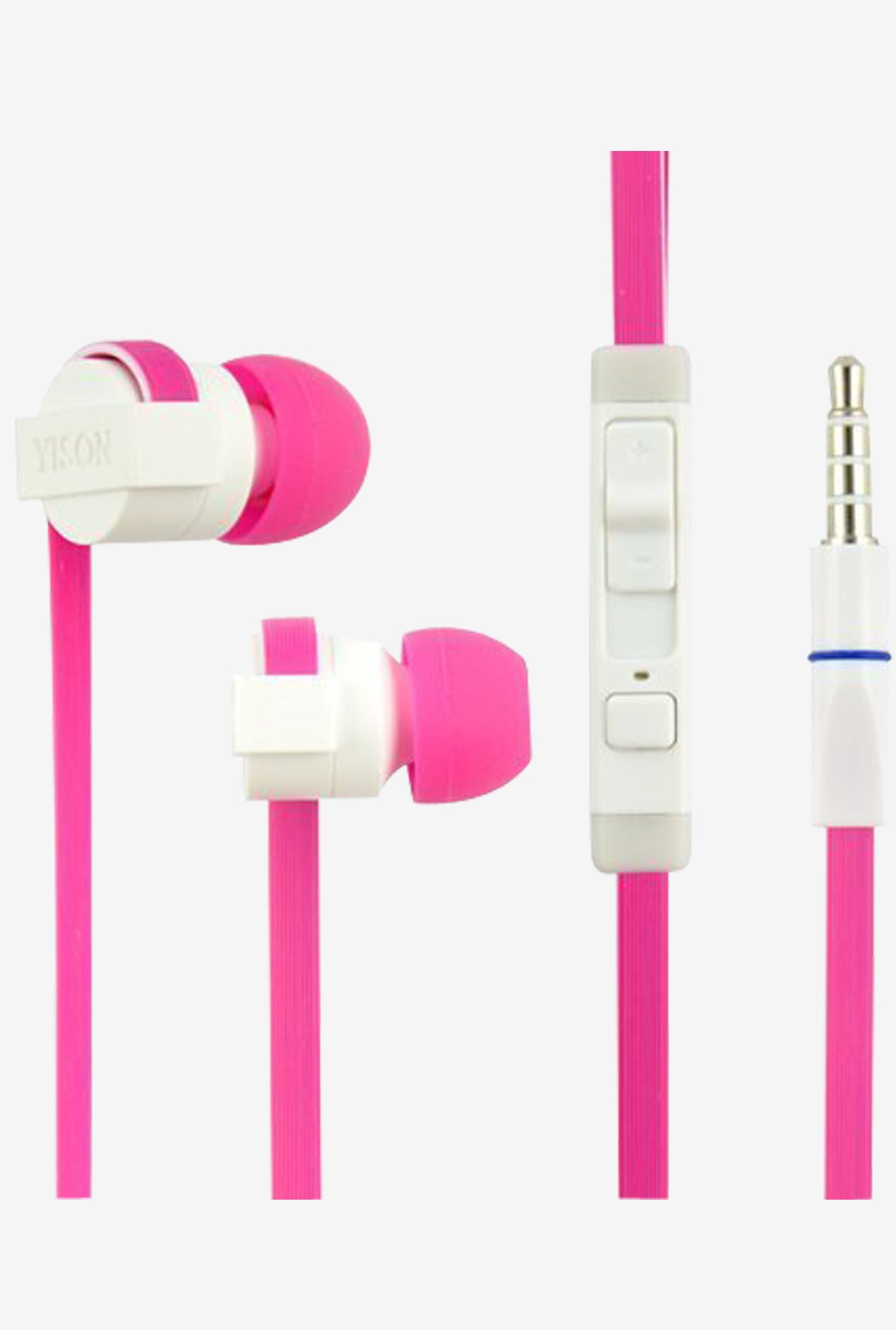 Yison CX390P In The Ear Headphones With Mic (Pink)