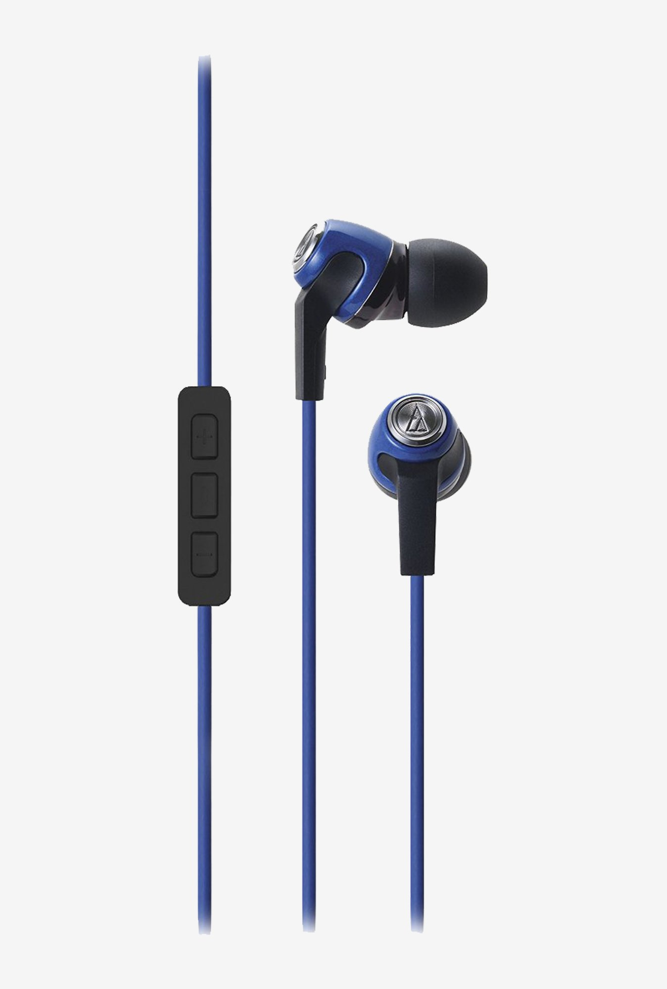 Audio Technica ATH-CK323i SonicFuel Headphones Mic (Blue)