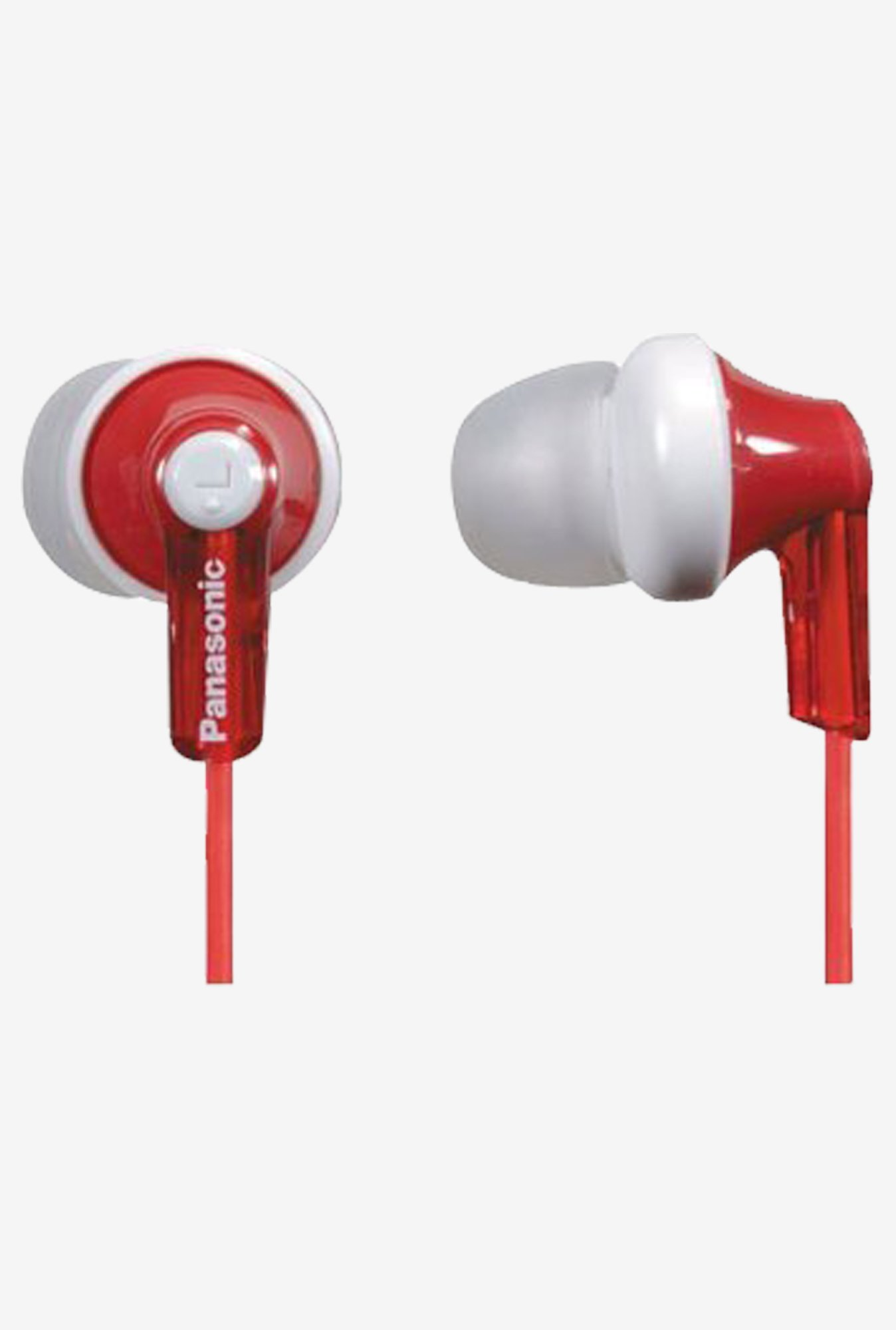 Panasonic RP-HJE120-R In The Ear Headphone (Red)