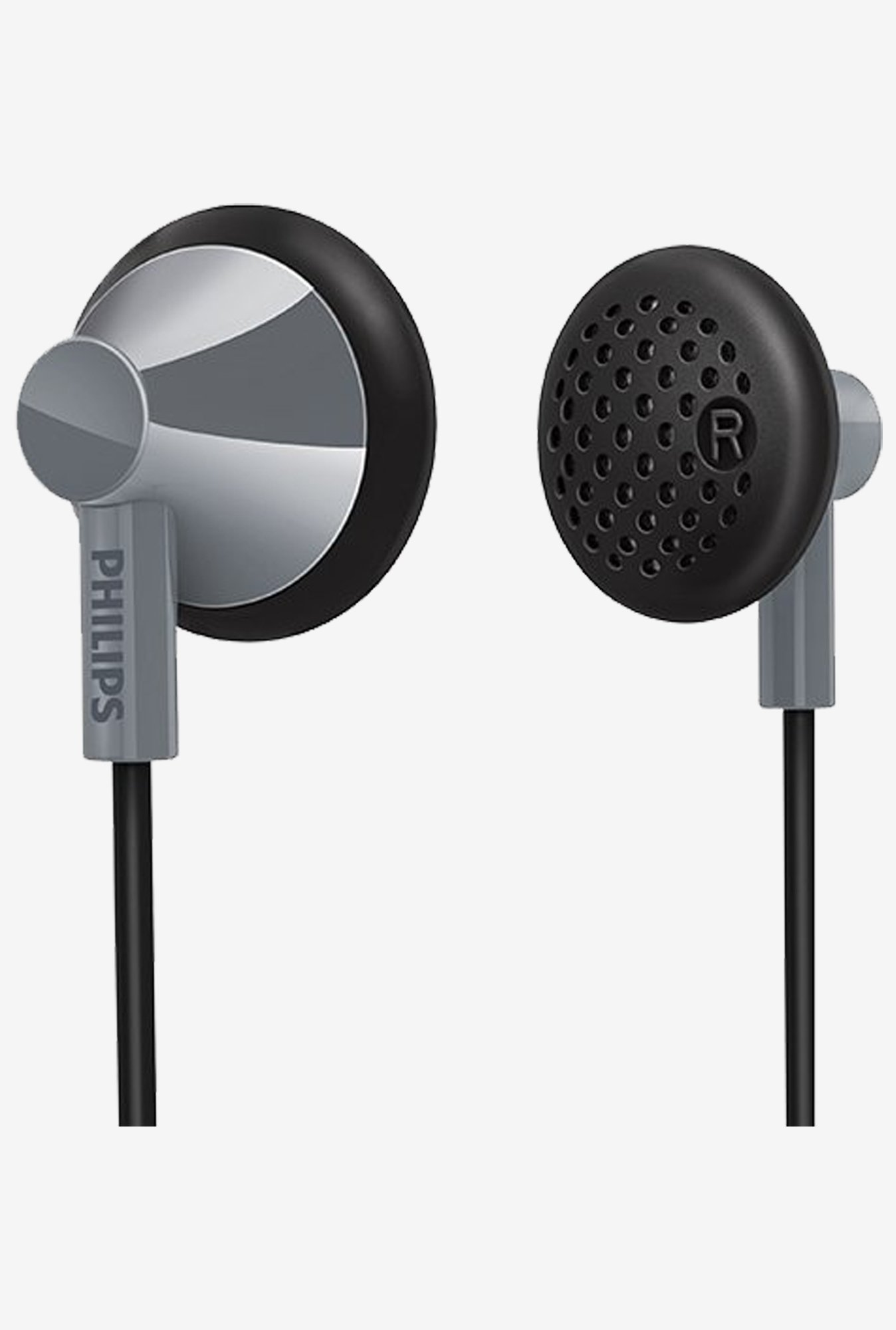 Philips SHE2100GY/28 In The Ear Headphones  (Gray)