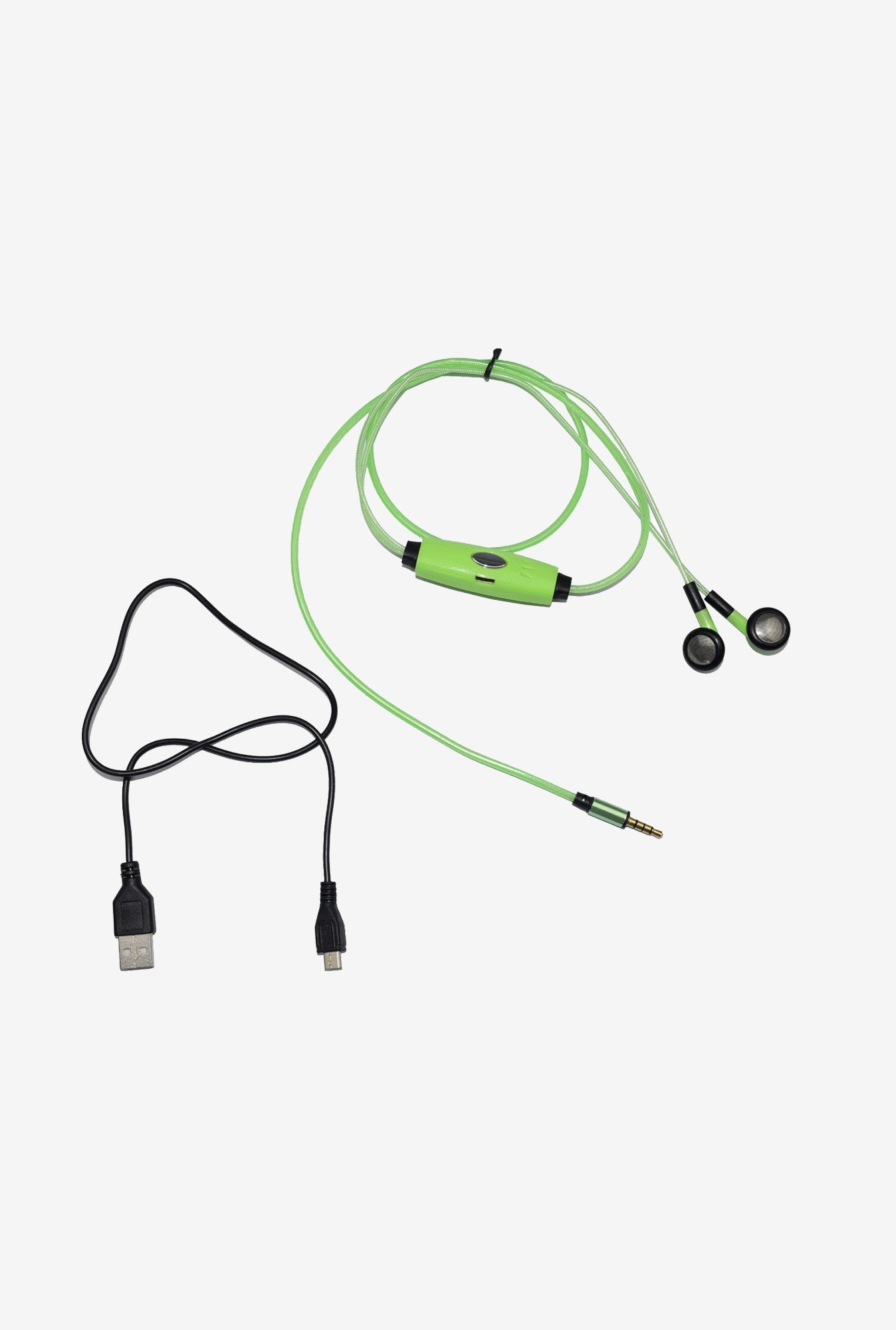 Pashion LED Flashing Headphone (Green)