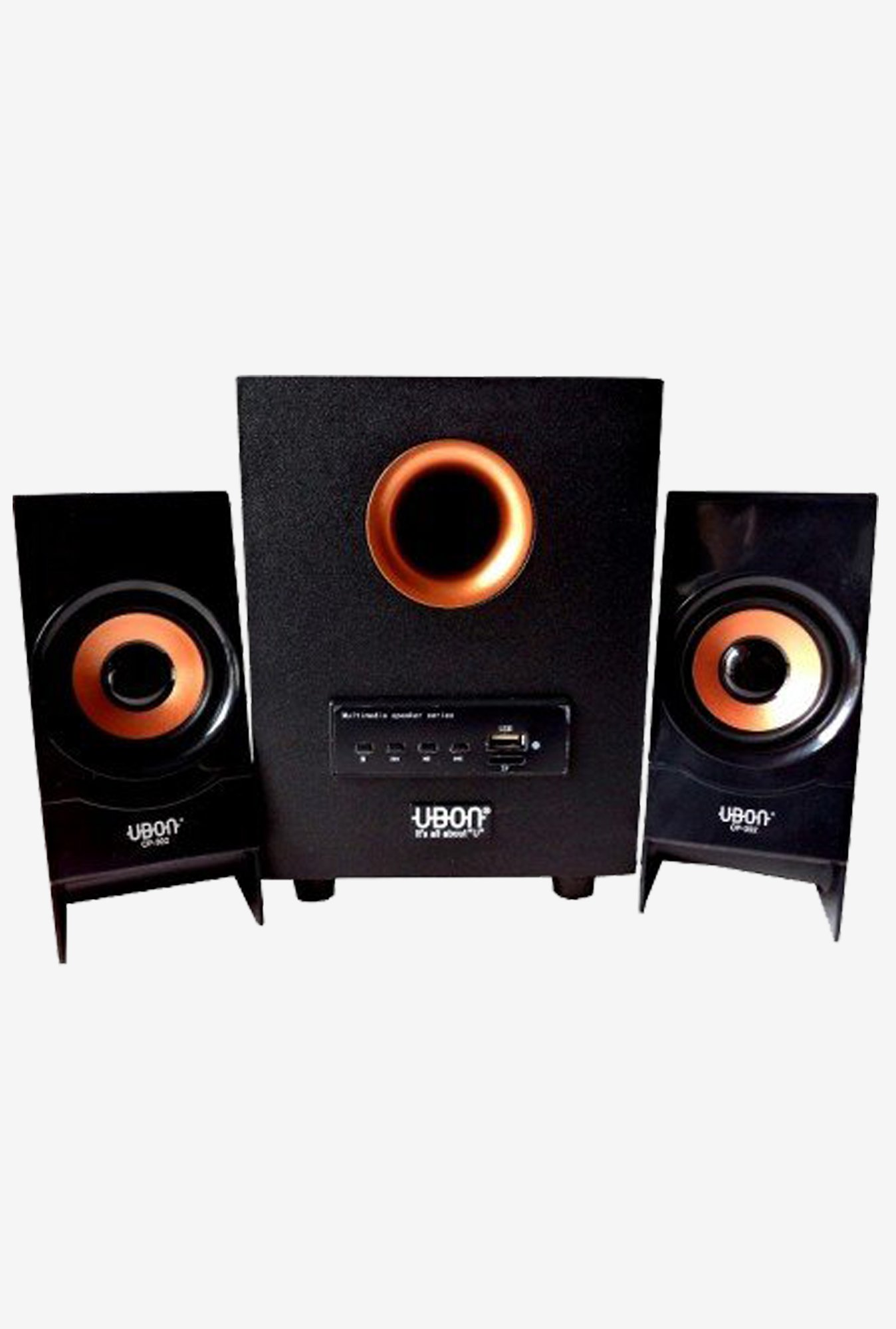 Generic Ubon CP-302 2.1 Wood Multimedia Home Theater (Black)
