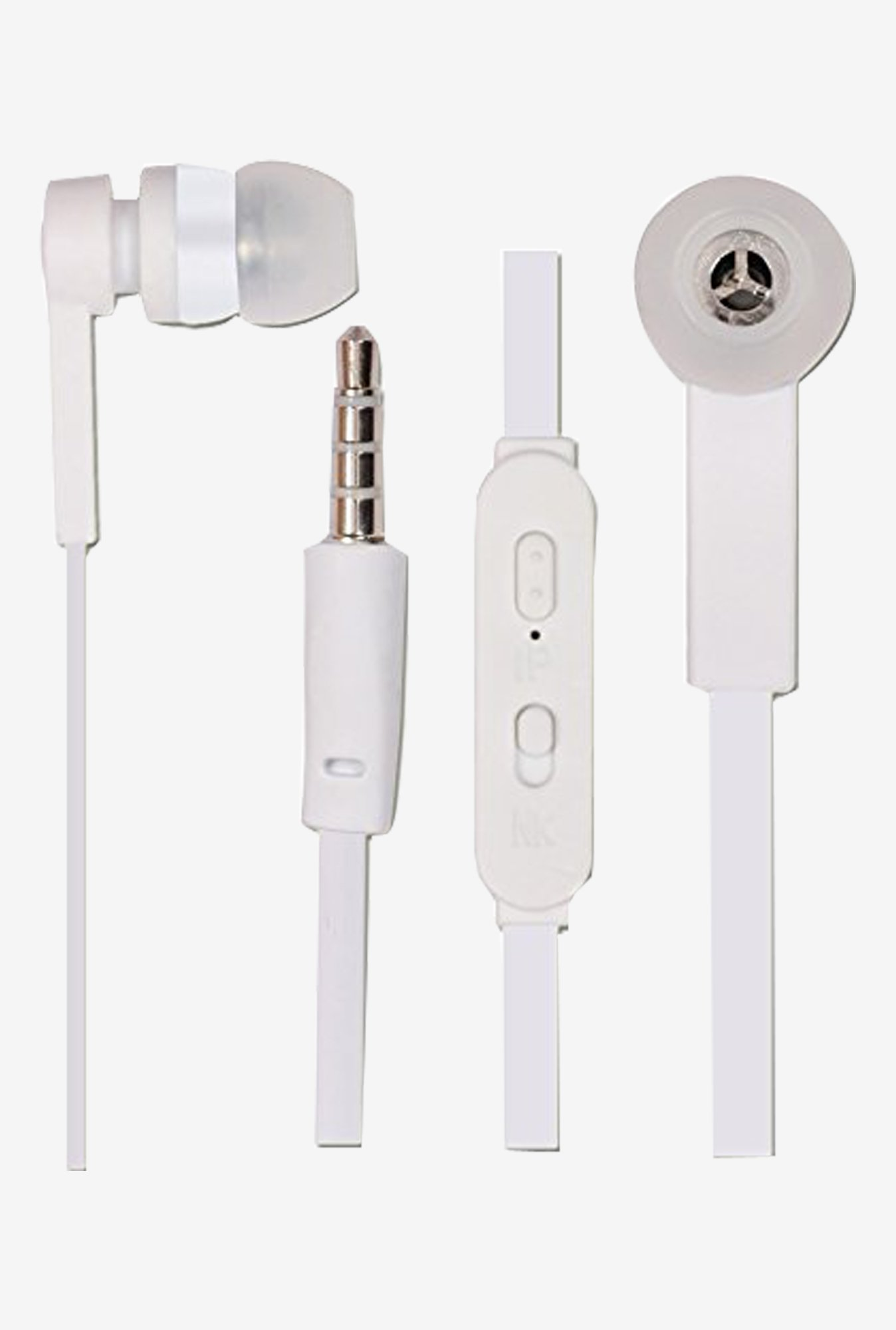 Jkobi In The Ear Bud Handsfree Headset Earphones (White)