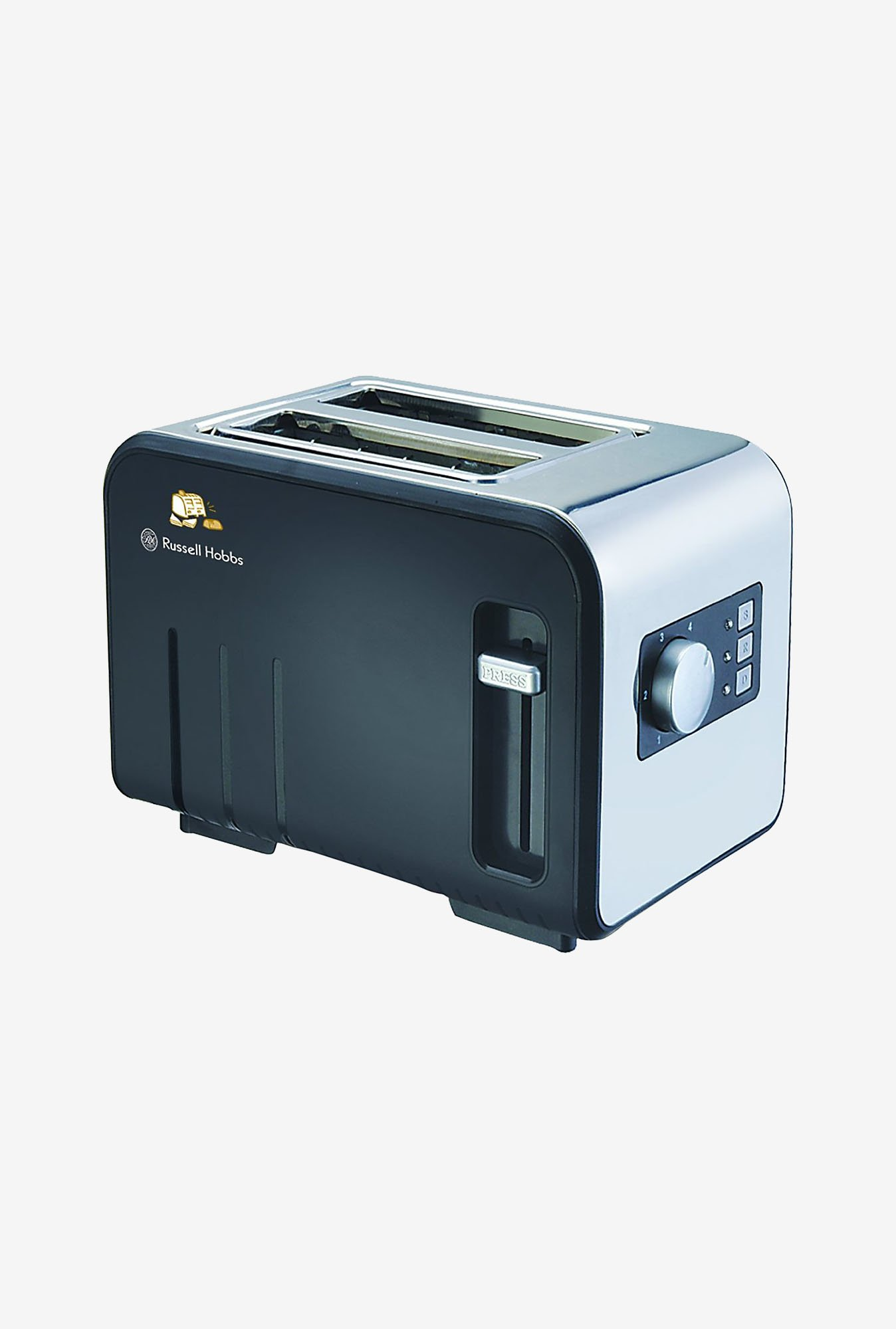 Russell Hobbs RPT802S 800 W 2 Slice Pop up Toaster (Black)