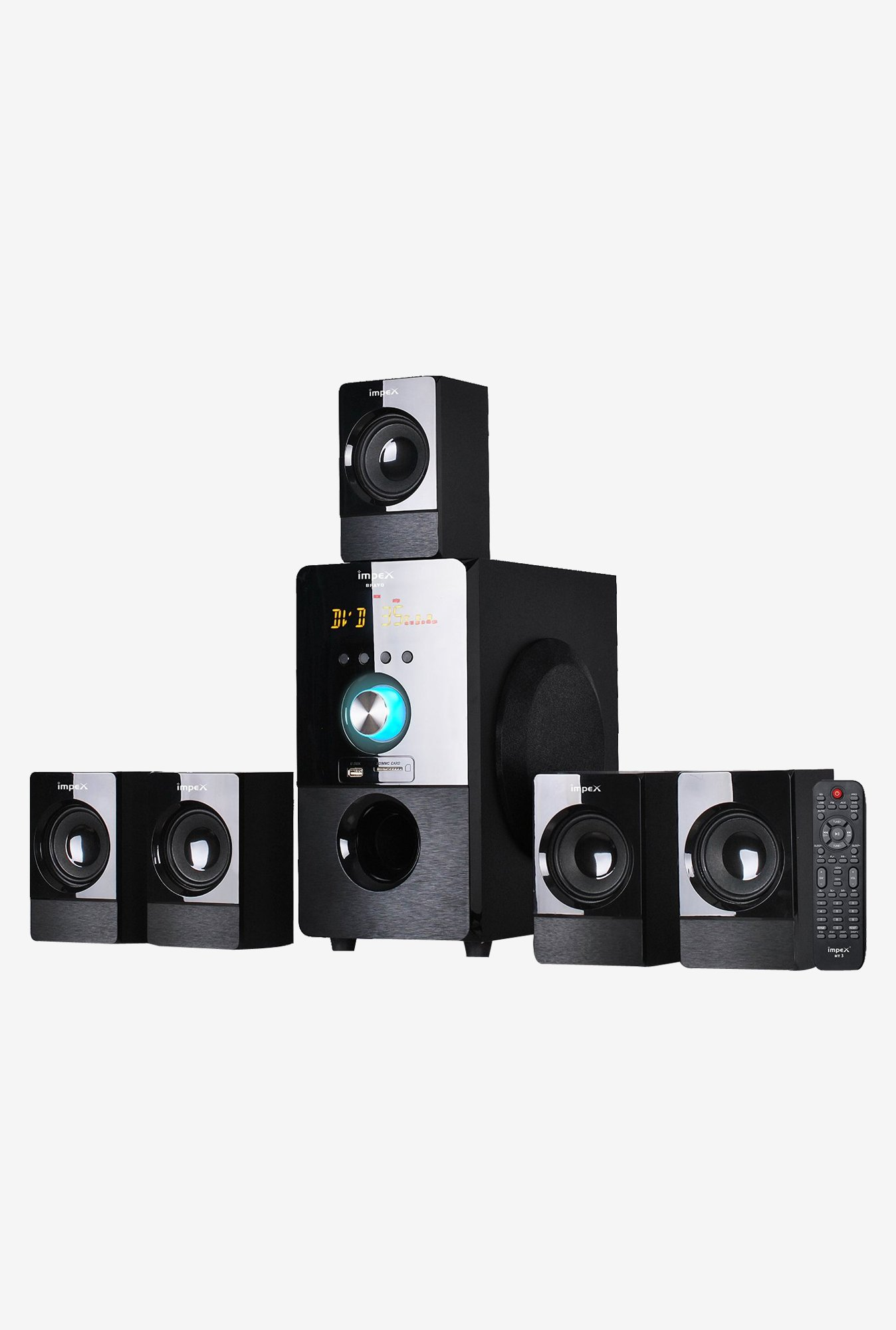 Impex Bravo 5.1 Multimedia Speaker System (Black)
