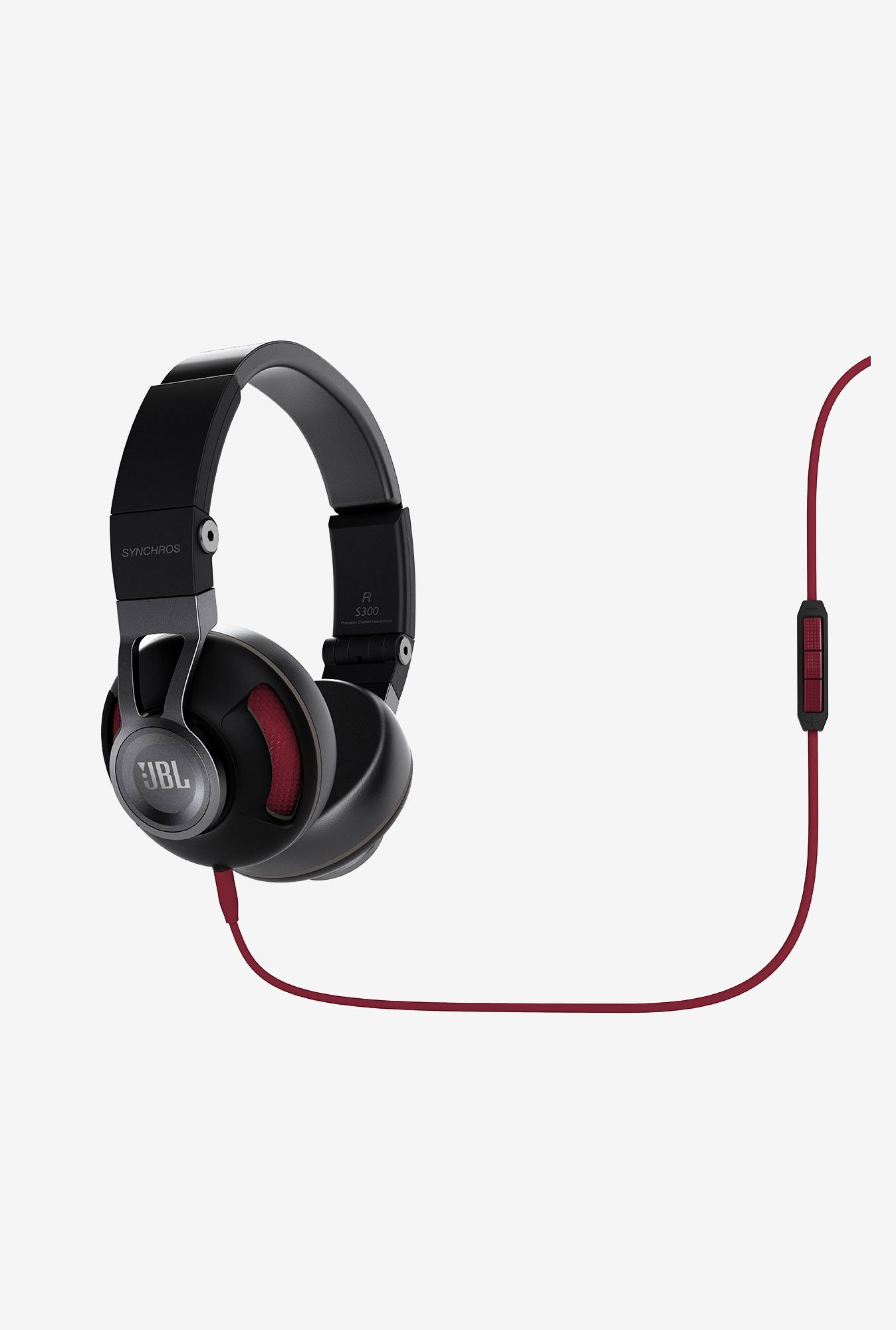JBL Synchros S300a On the Ear Headphones (Black)