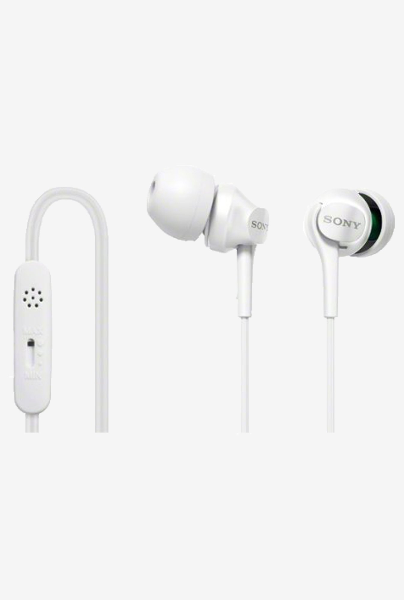 Sony DR-EX102VP-W In-Ear Headphones (White)