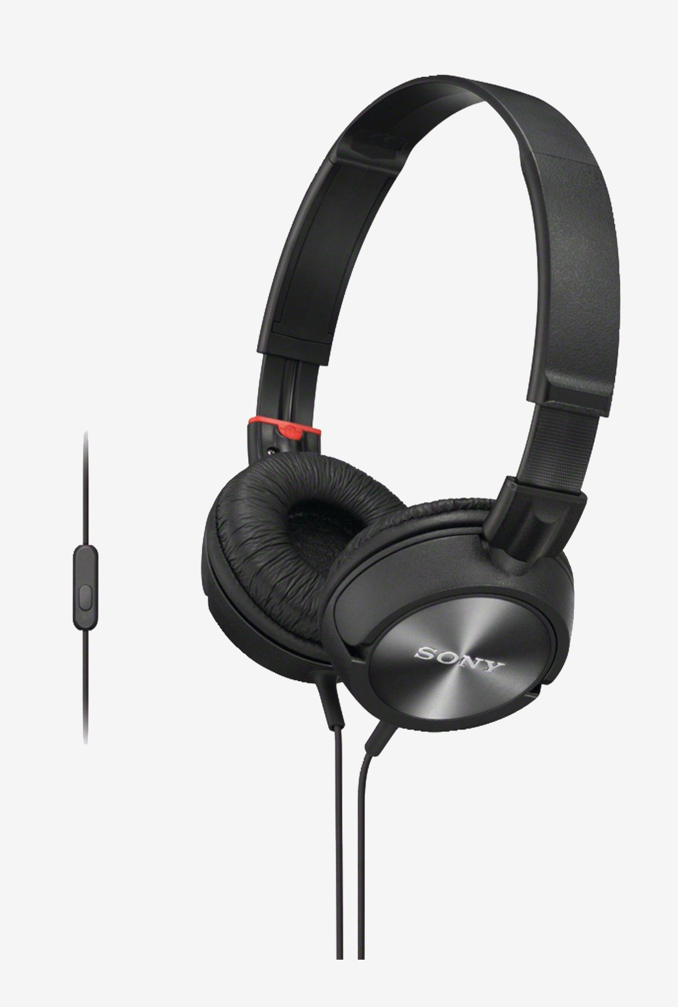 Sony MDR-ZX300AP Sound Monitoring Headphone With Mic (Black)