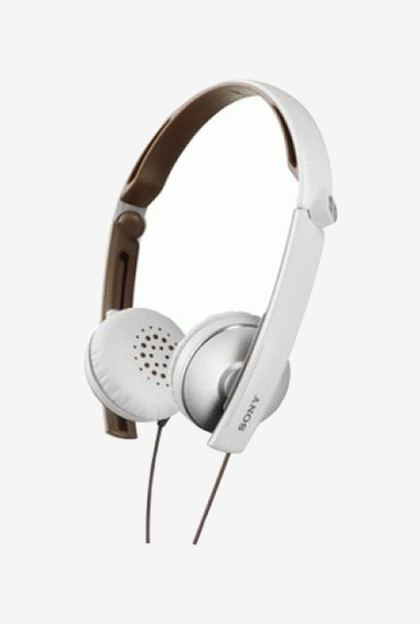 Sony MDR-S70AP/WQ Stereo Headphones With Mic (White/Brown)