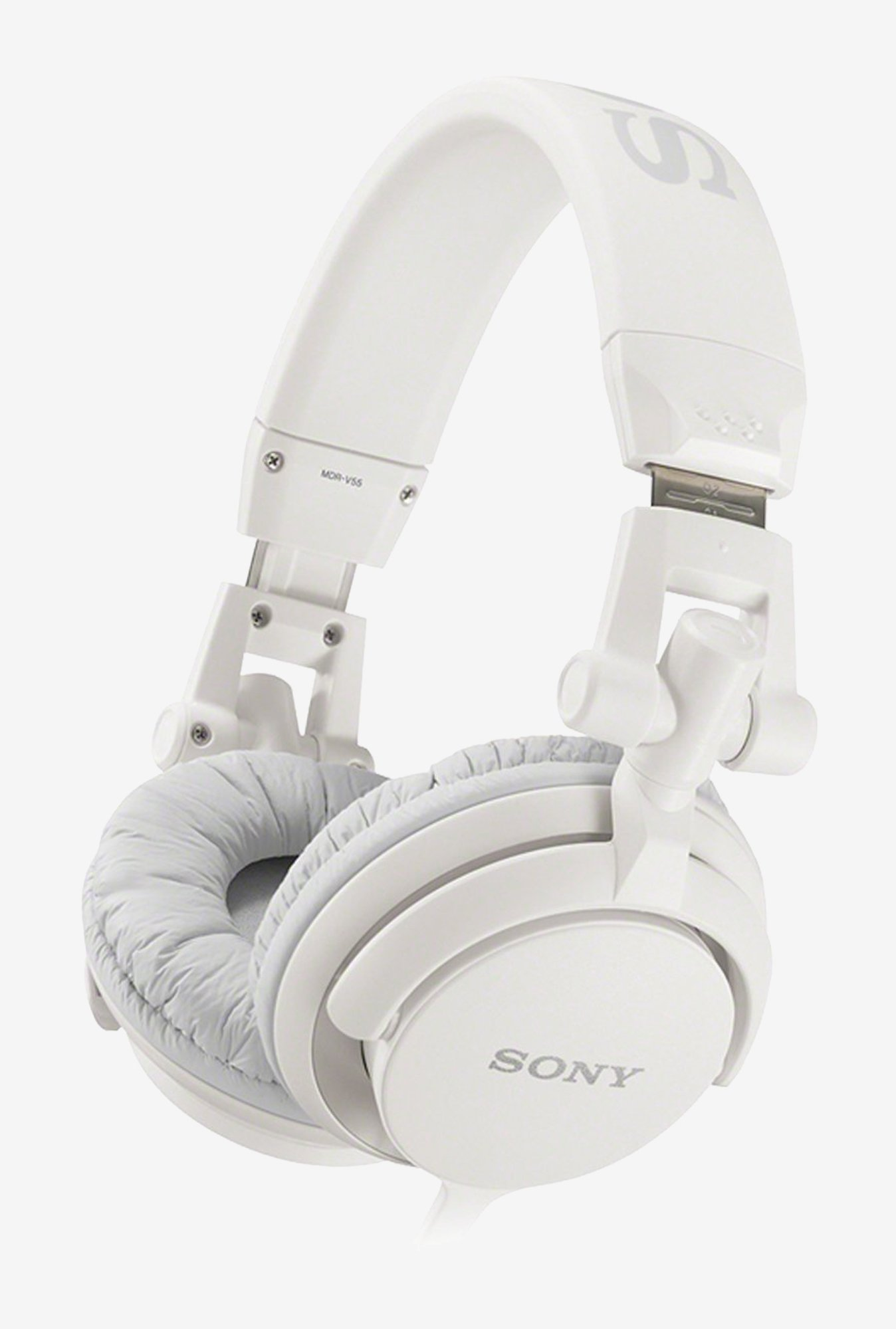 Sony MDR-V55/WC DJ  Headphones With Swivel Design (White)