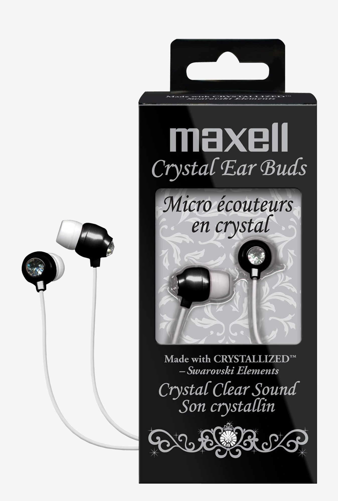 Maxell 190336 Crystal Ear Buds Black
