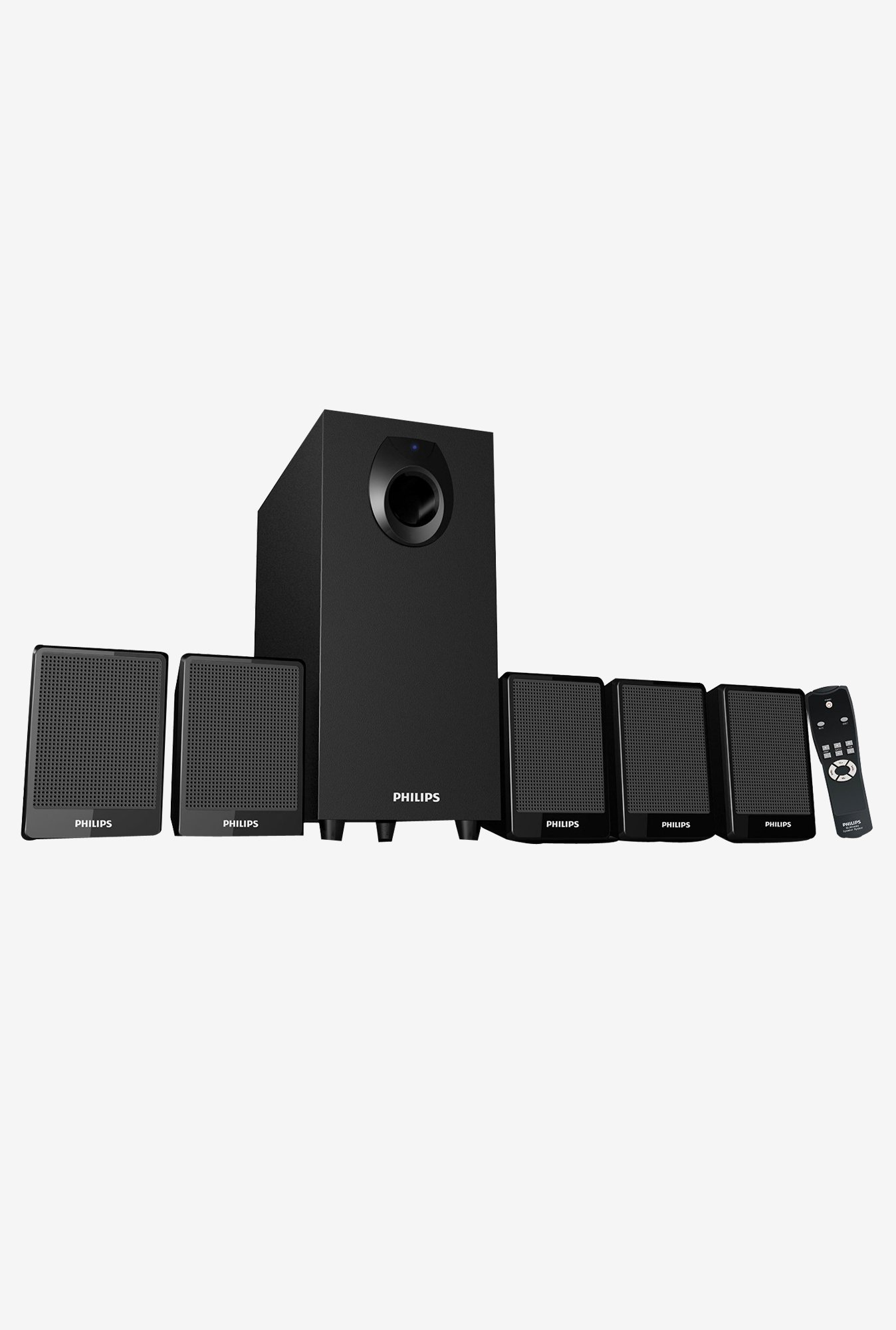 Philips DSP 2800 Speaker System with Sub Woofer (Black)